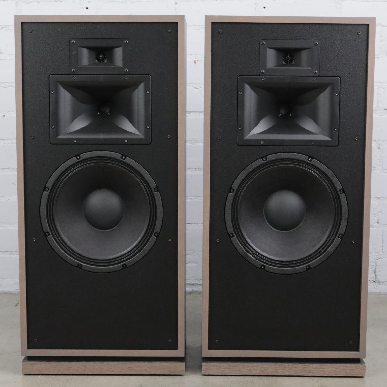 Klipsch Forte III Distressed Oak Floor Standing Passive Speakers w/Cables #41548
