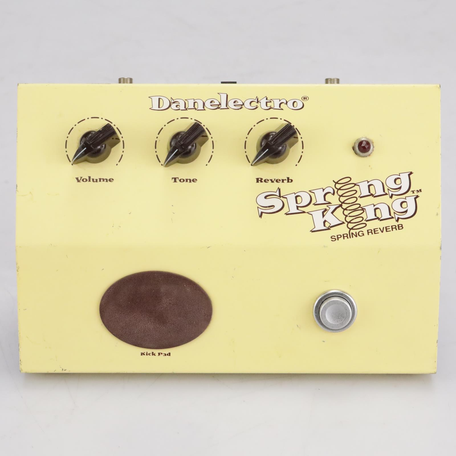 Danelectro Spring King Reverb Effects Pedal Stompbox Yellow #41965