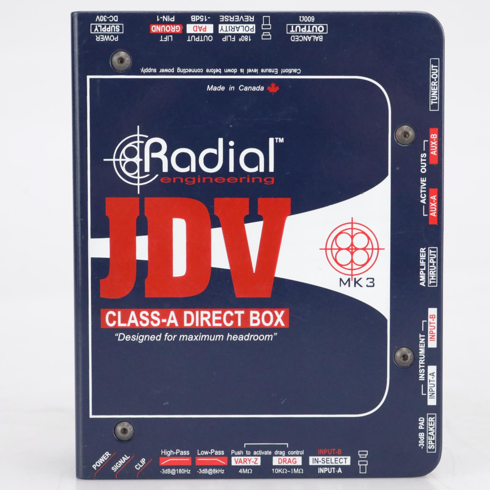Radial Engineering JDV MK3 Class-A Direct Box #41886