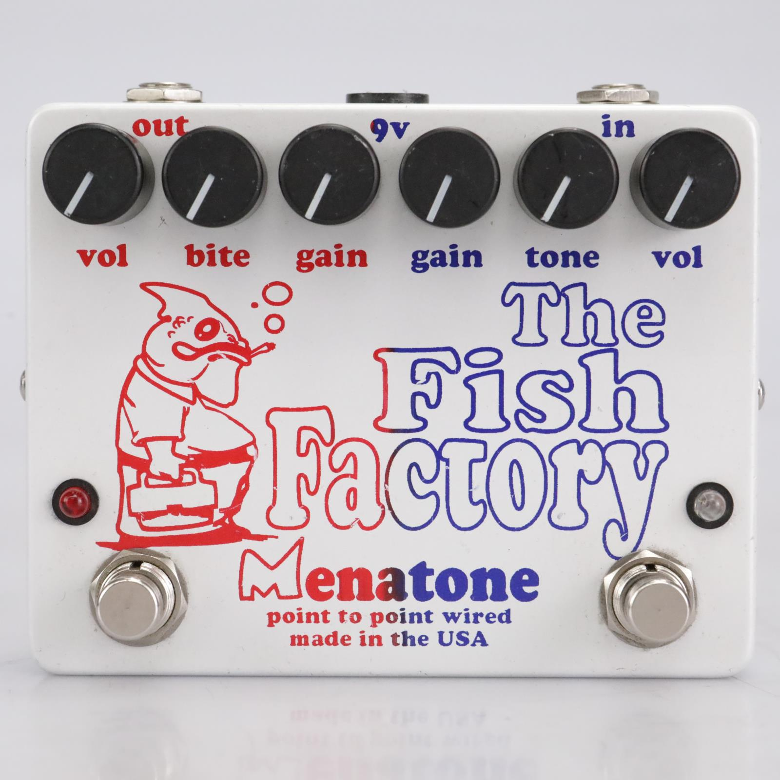 Menatone The Fish Factory Dual Overdrive Effects Guitar Footswitch Pedal #41948