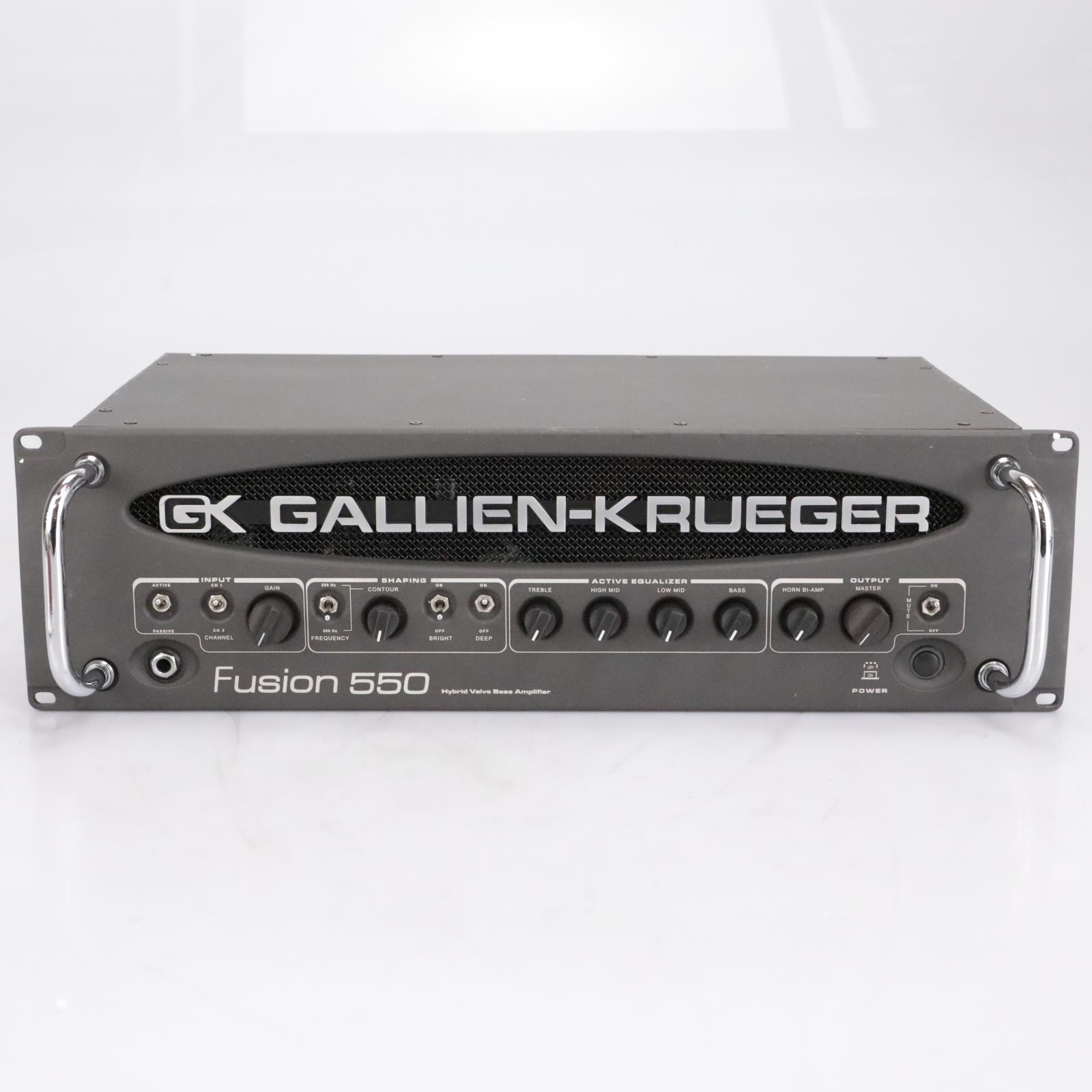 Gallien Krueger GK Fusion 550 Hybrid Tube Bass Amp Head w/Box #41923