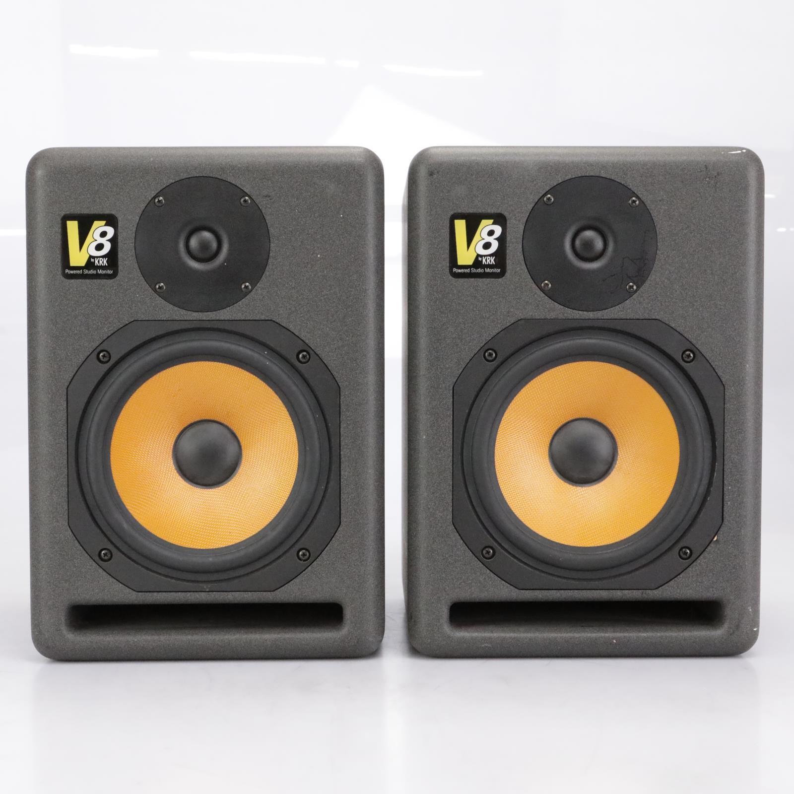 KRK V8 Powered Active Studio Monitors Speakers #42353