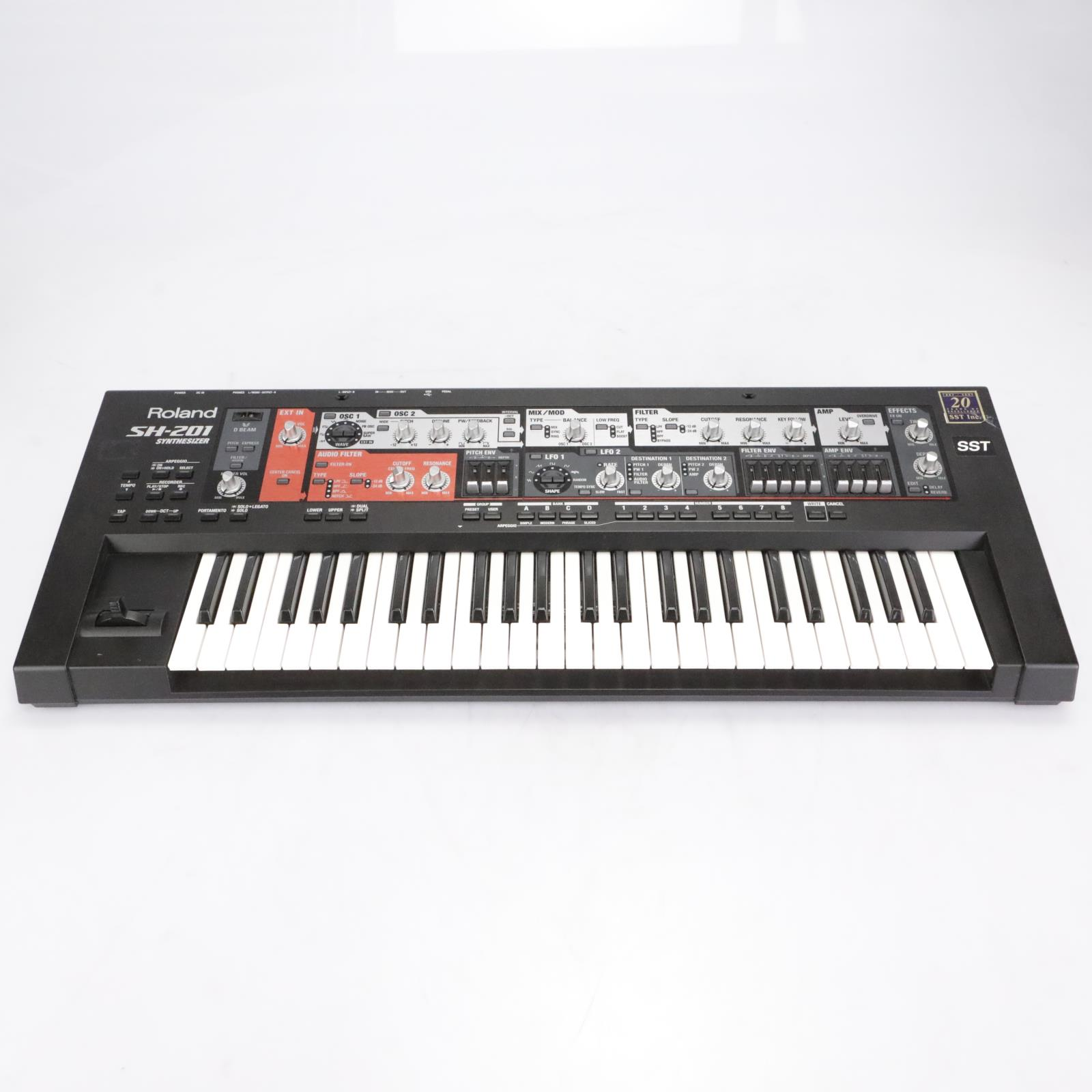 Roland SH-201 49 Key 10-Voice Polyphonic Analogue Synthesizer Keyboard #42225
