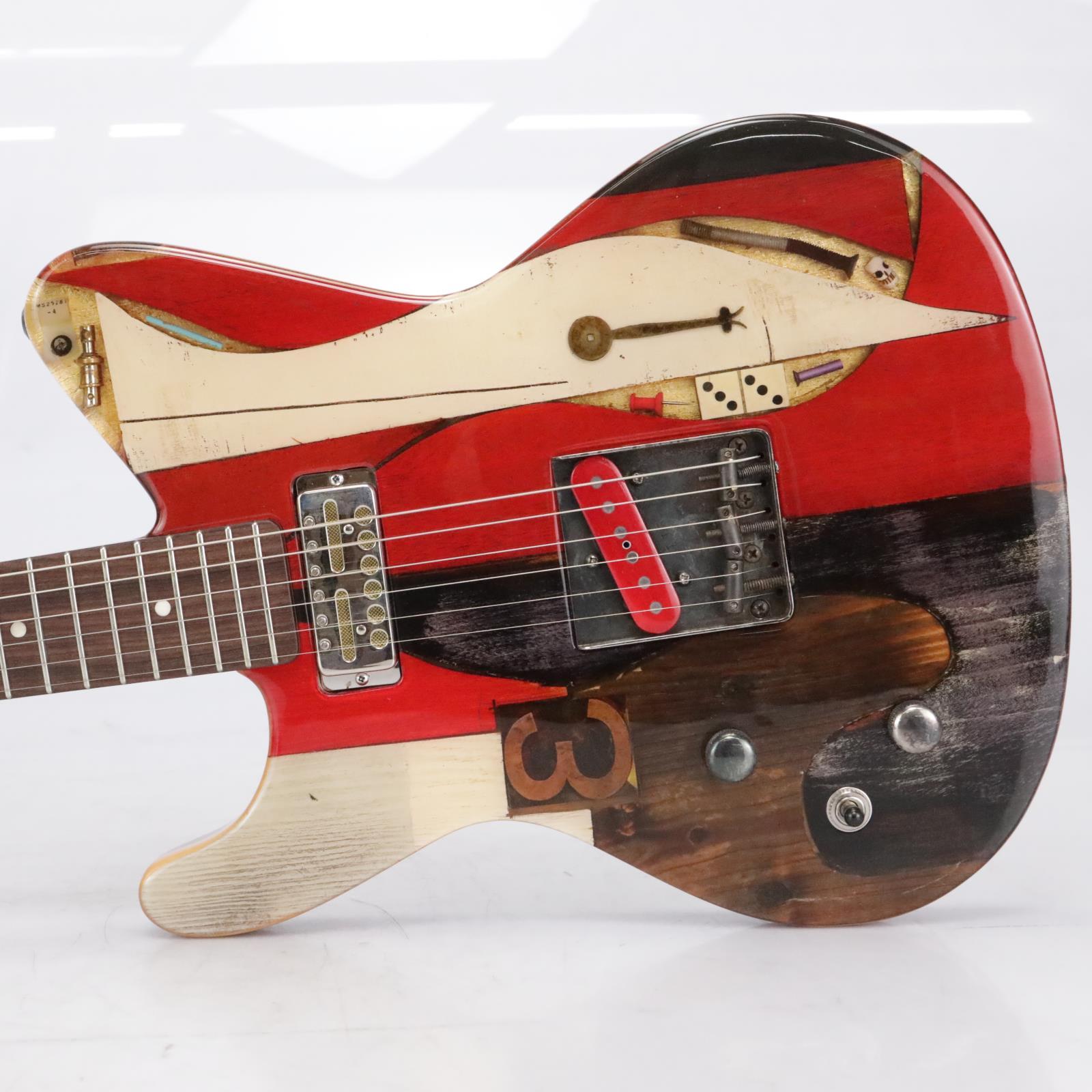 """Spalt Instruments Totem """"Red Left"""" Left-Handed Lefty Electric Guitar #37469"""