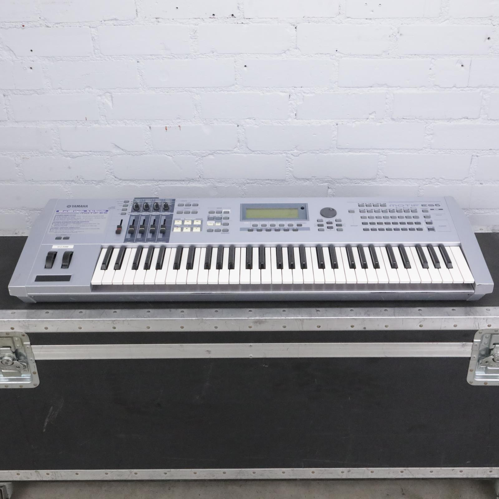 Yamaha Motif ES6 Music Production Synthesizer w/ Anvil Road Case #42434