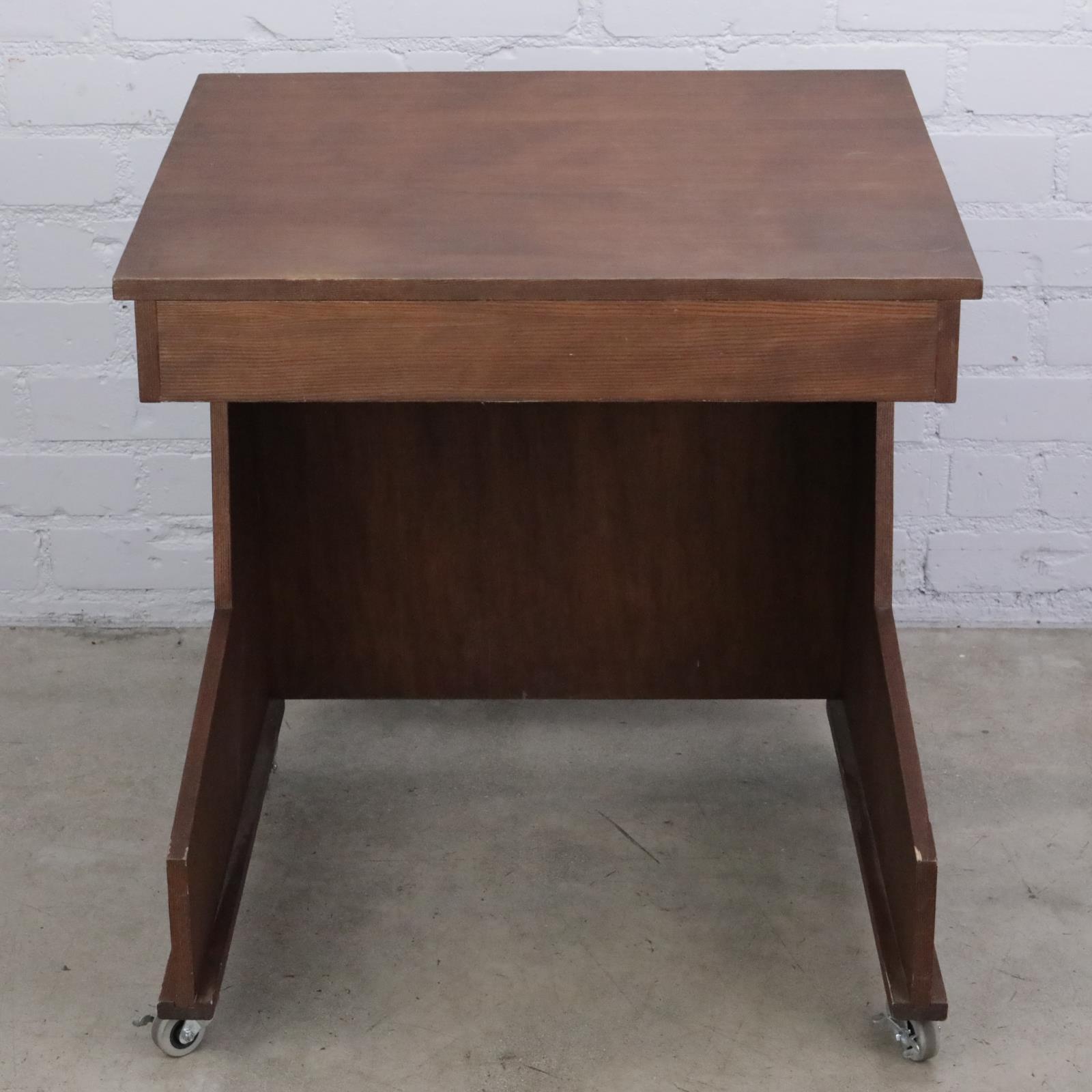 Custom Wood Studio Pro Tools Workstation Mobile Desk w/ Casters #42477