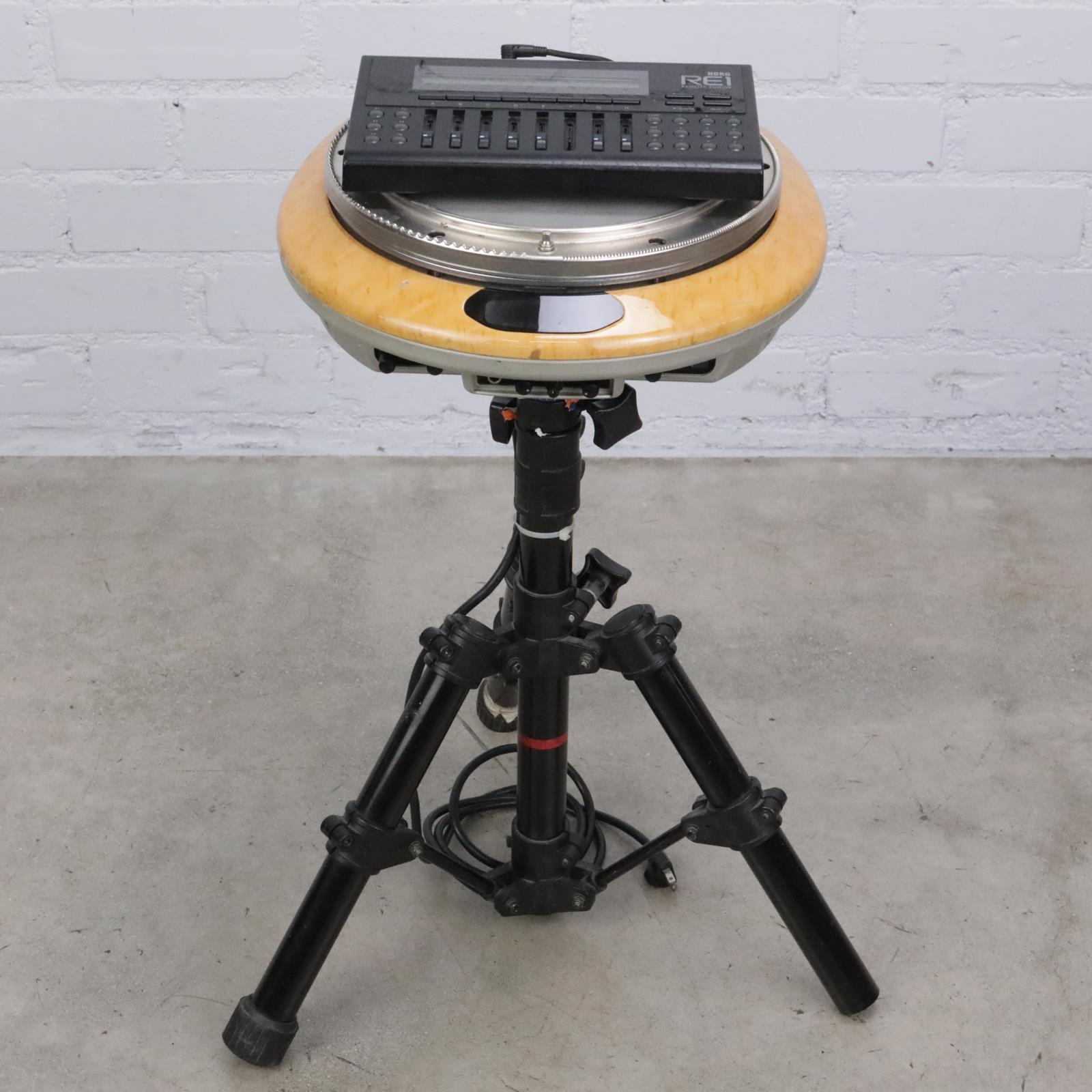Vintage Korg WD-1 Wavedrum Percussion Synthesizer w/ RE1Remote & Stand #42386