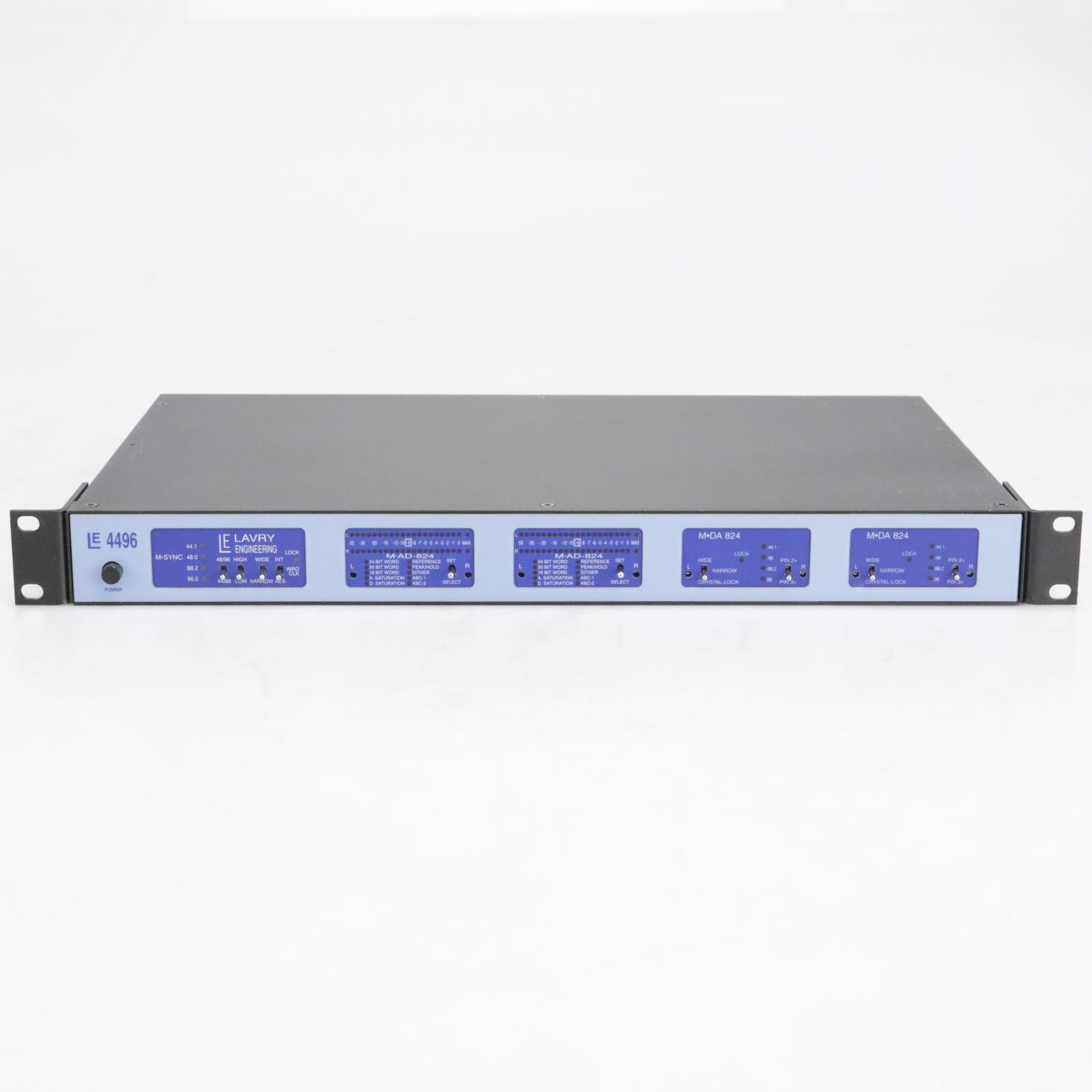 Lavry Engineering 4496 Clock AD/DA Converter 2x M-AD 2x M-DA 1x M-SYNC #42515