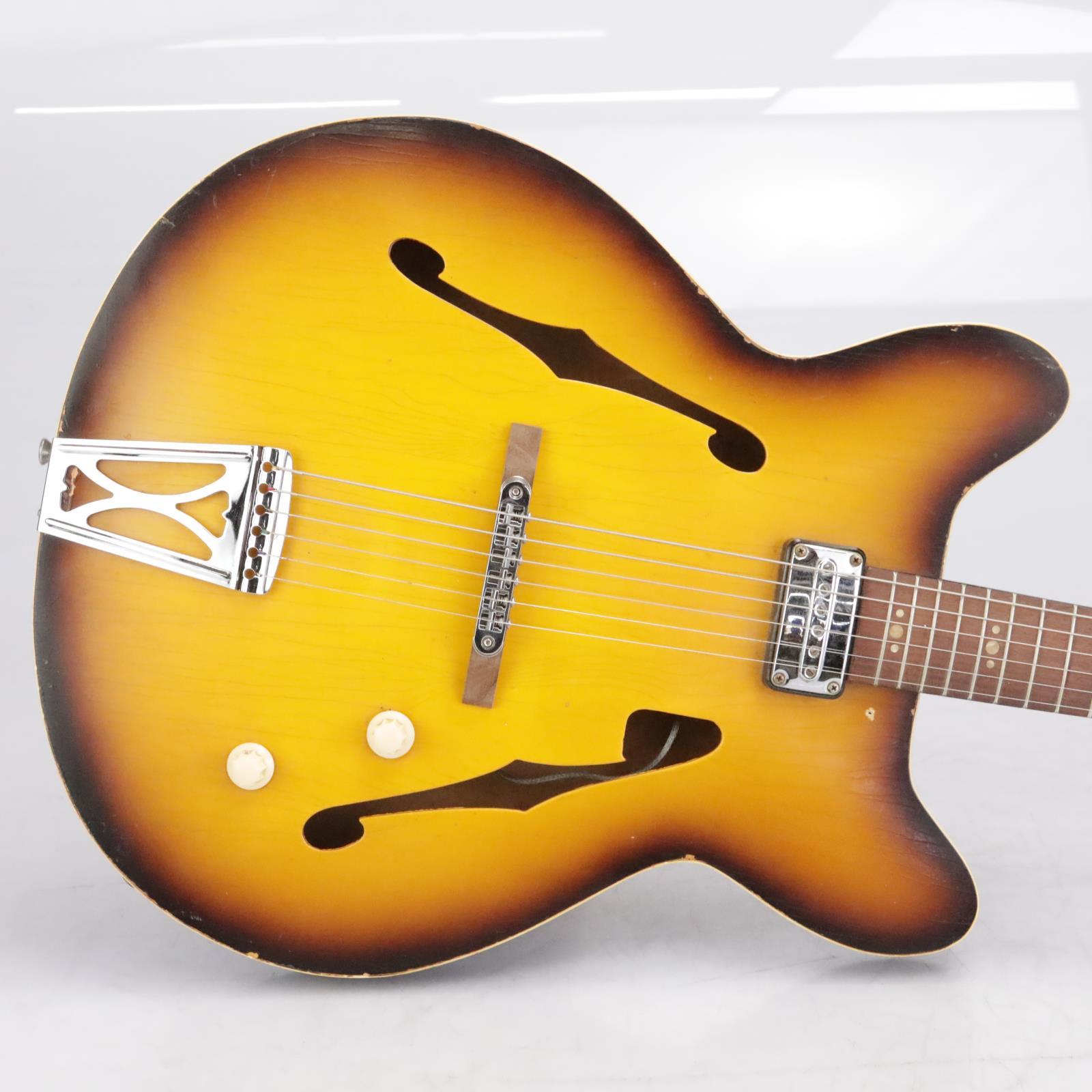 Vintage Egmond 7 Semi-Hollow Double-Cutaway Electric Guitar w/ Gig Bag #42525
