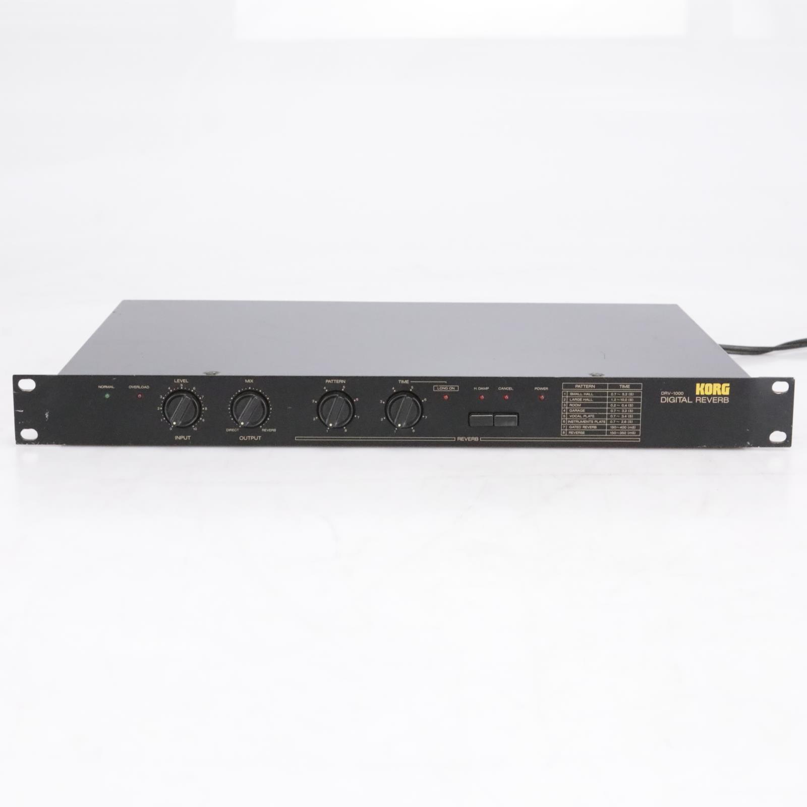 KORG DRV-1000 Digital Reverb Effect Rack #42492