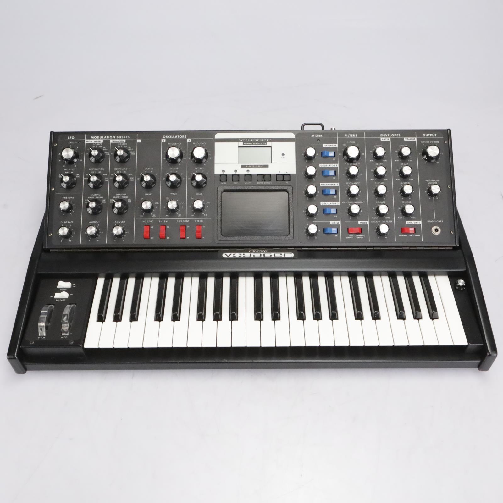 Moog Minimoog Voyager Synthesizer Electric Blue Edition w/ Case #42368