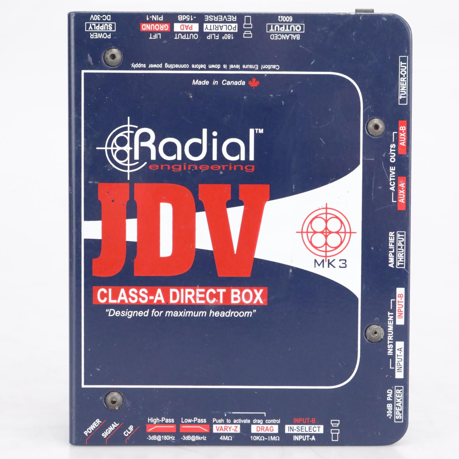 Radial Engineering JDV Class-A MK3 Direct Box #42546