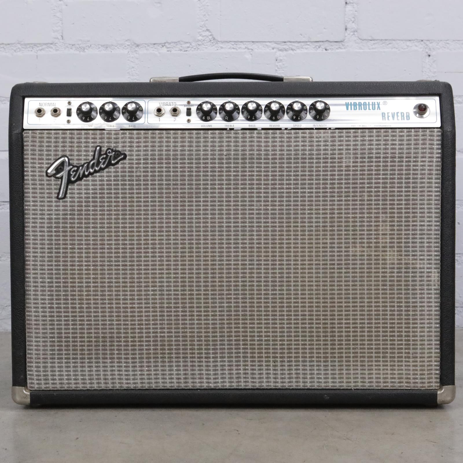 1974 Fender Vibrolux Reverb Silverface Tube Guitar Combo Amplifier #41892