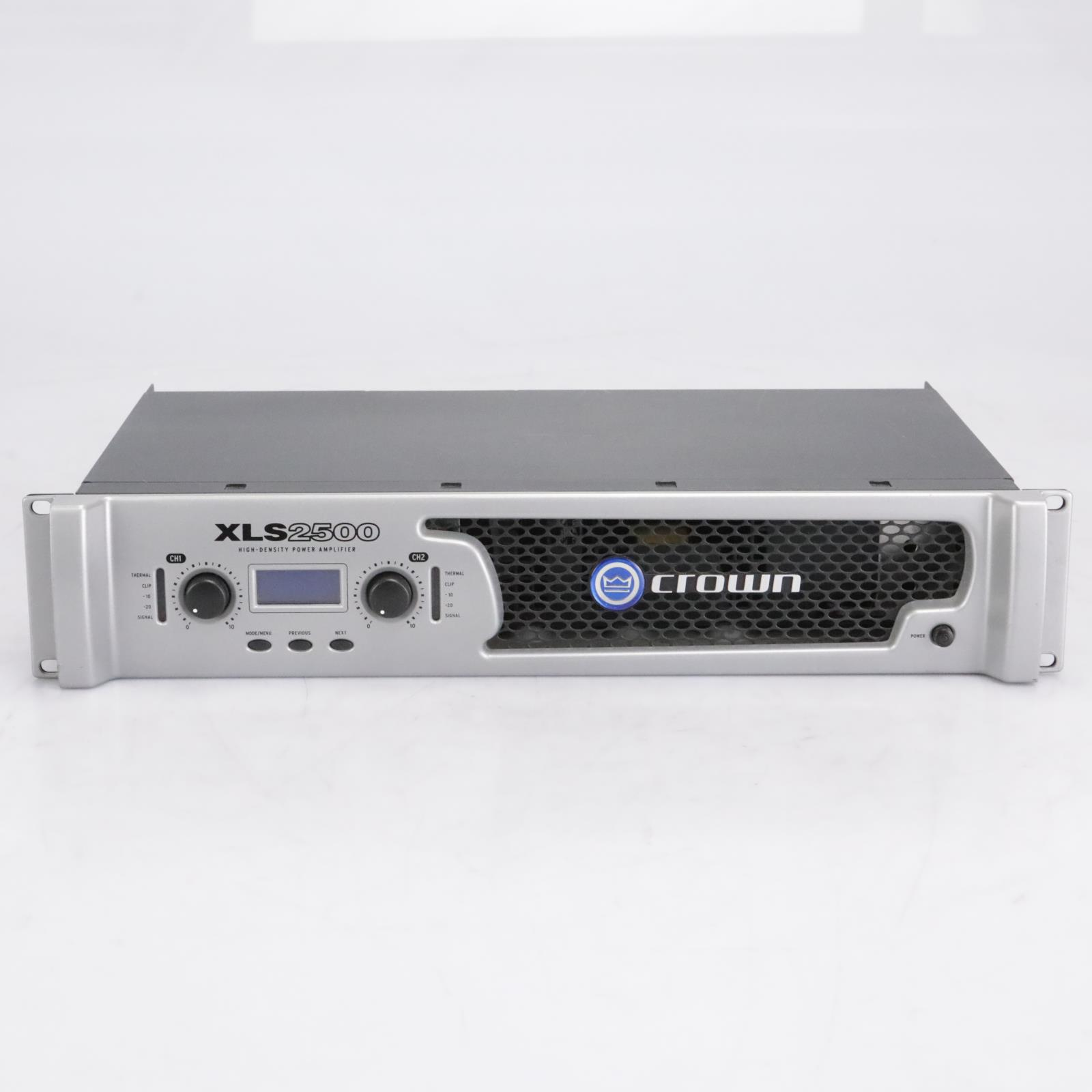 Crown XLS 2500 2-Channel, 775W @ 4Ω Power Amplifier Amp w/ Speaker Cables #42609