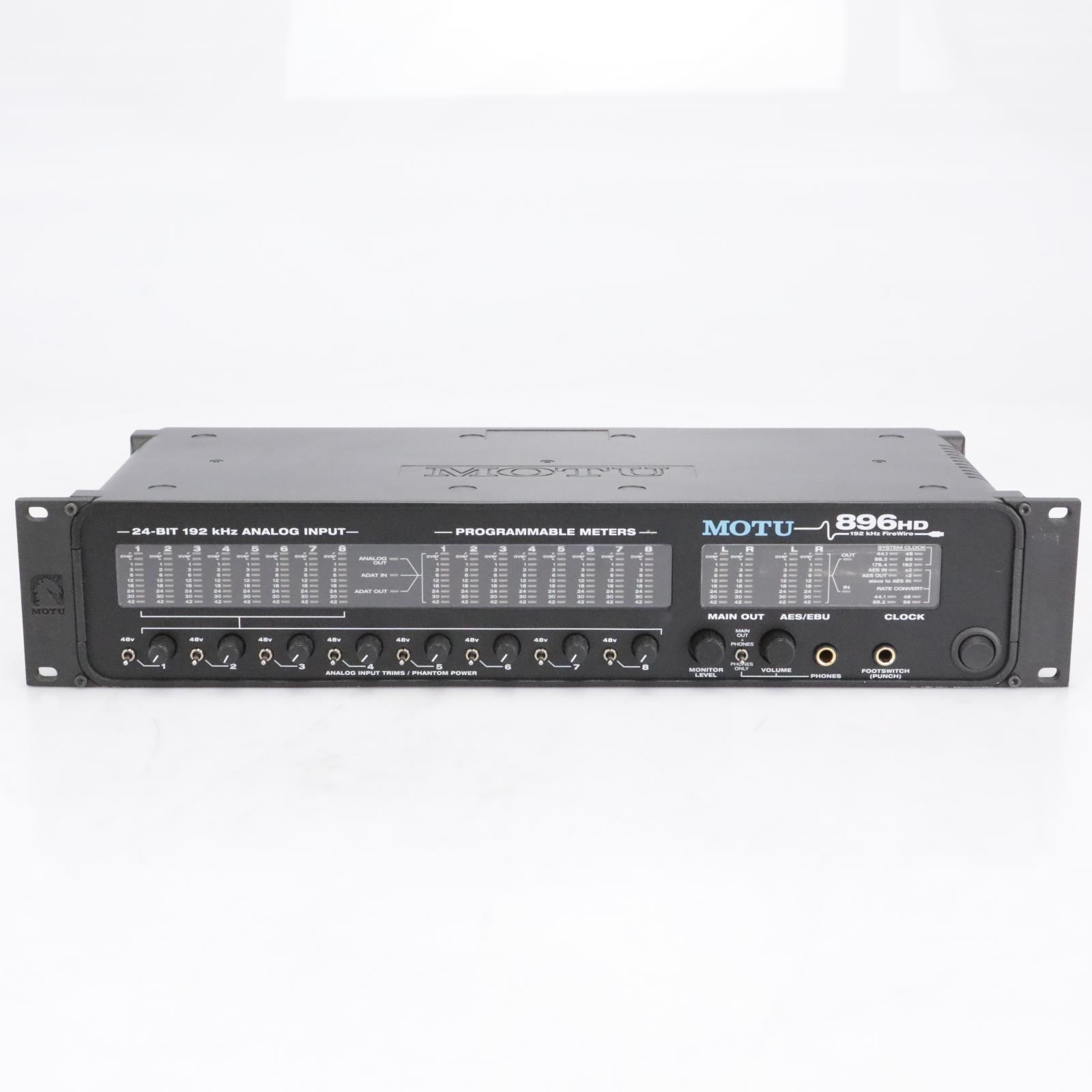 MOTU 896HD 192Hz FireWire Digital Audio Interface 8 Mic Pres #40670