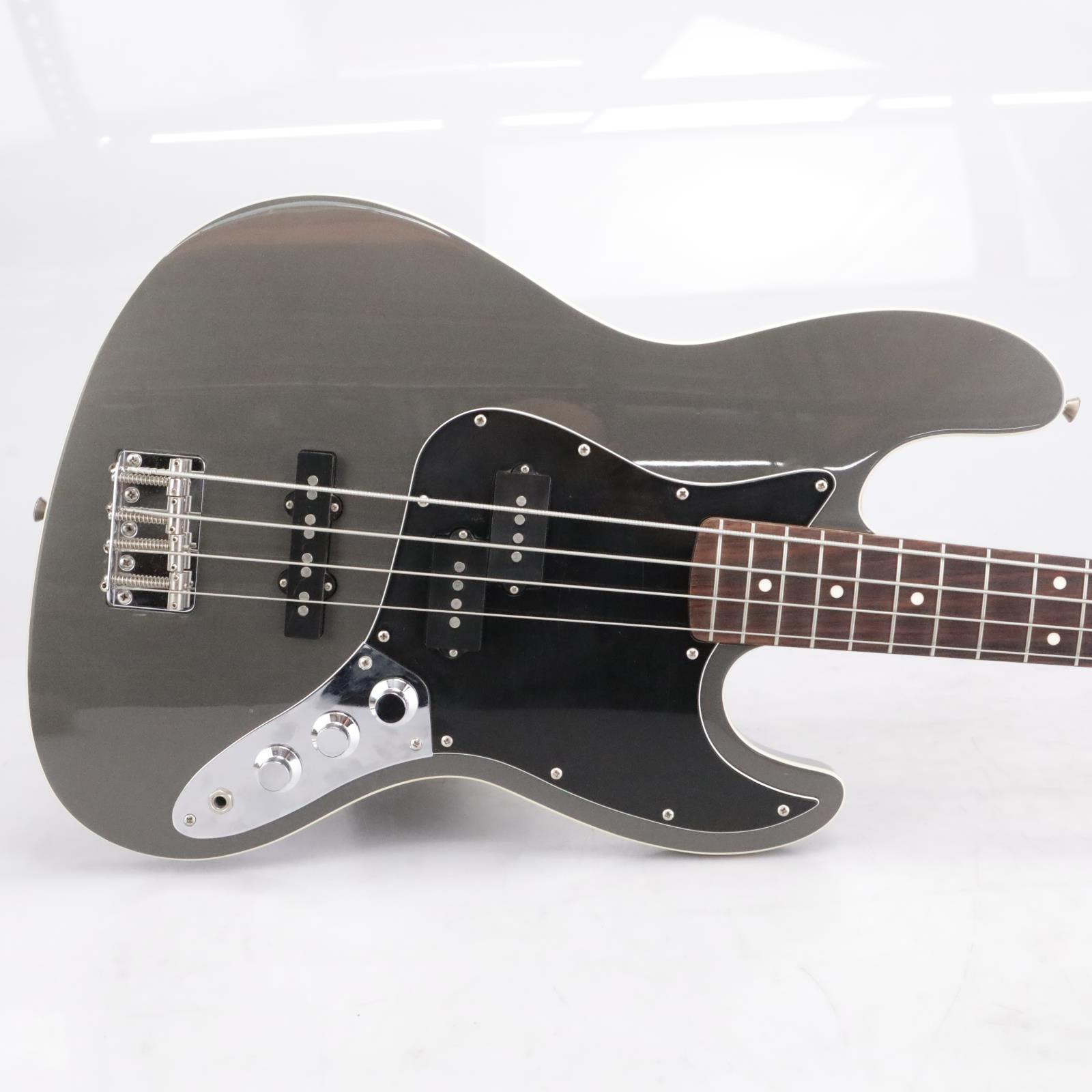 Fender Aerodyne Jazz Bass Guitar Gray w/ Soft Case #42658