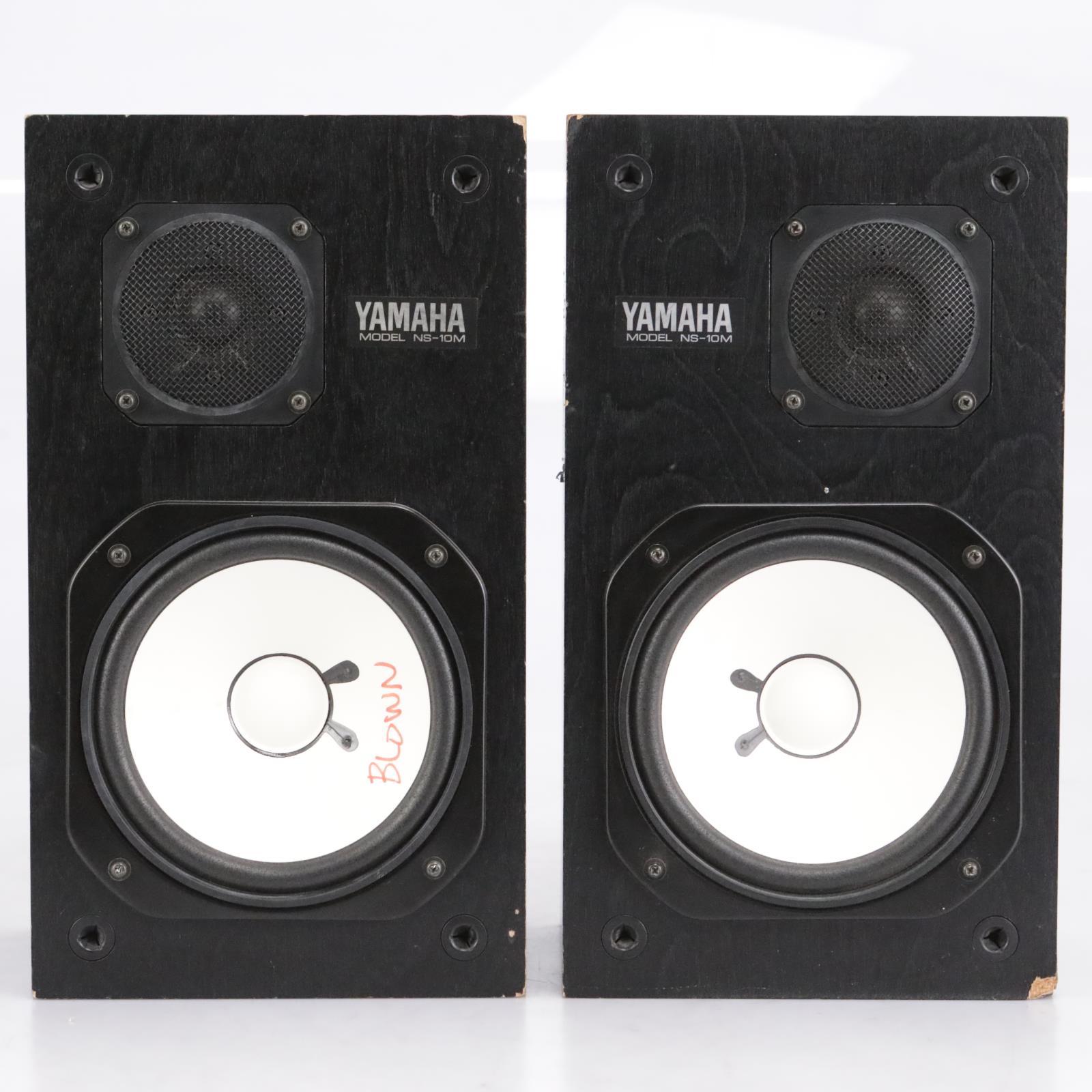 Yamaha NS-10M Monitor Studio Speakers One Blown Sub #42650