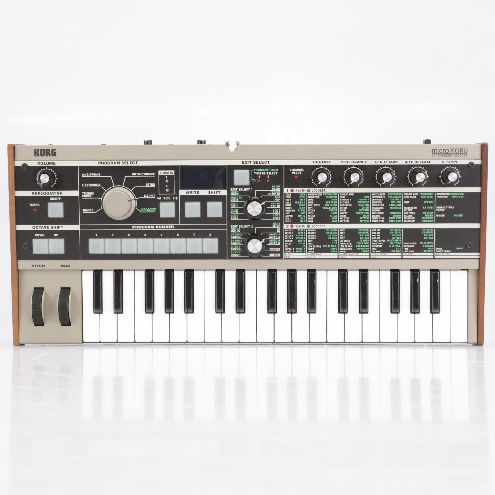 Korg MicroKORG 37-Key Analog Modeling Synthesizer Vocoder Keyboard #42668