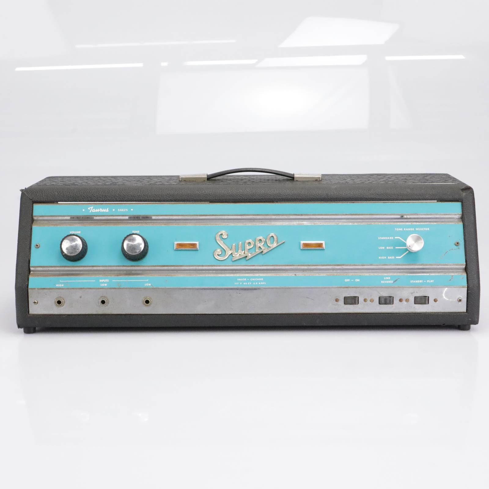 Vintage 60s Supro Taurus S6625 Tube Bass Amplifier Head #41593