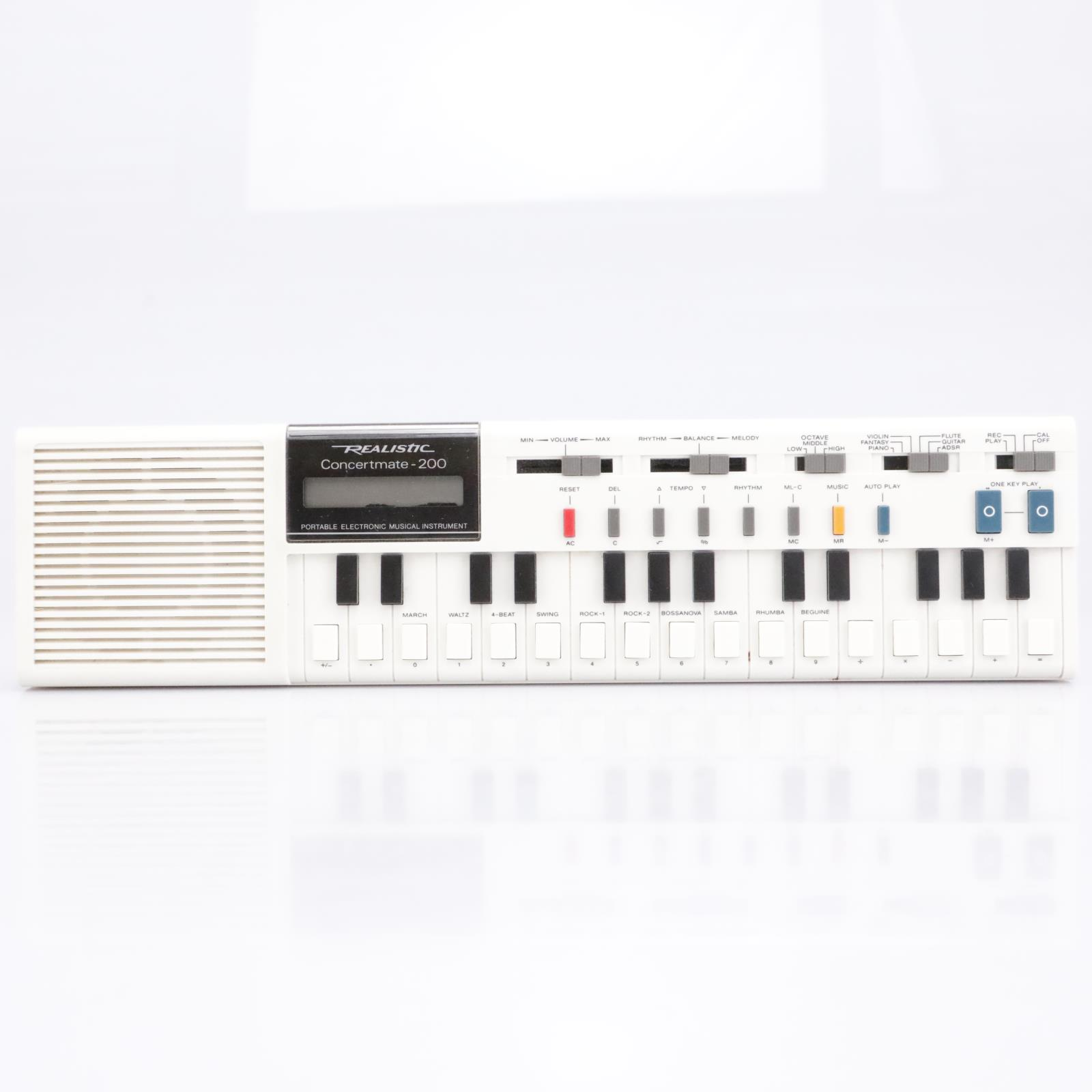 Realistic Concertmate - 200 Portable Electronic Keyboard Synth #43112
