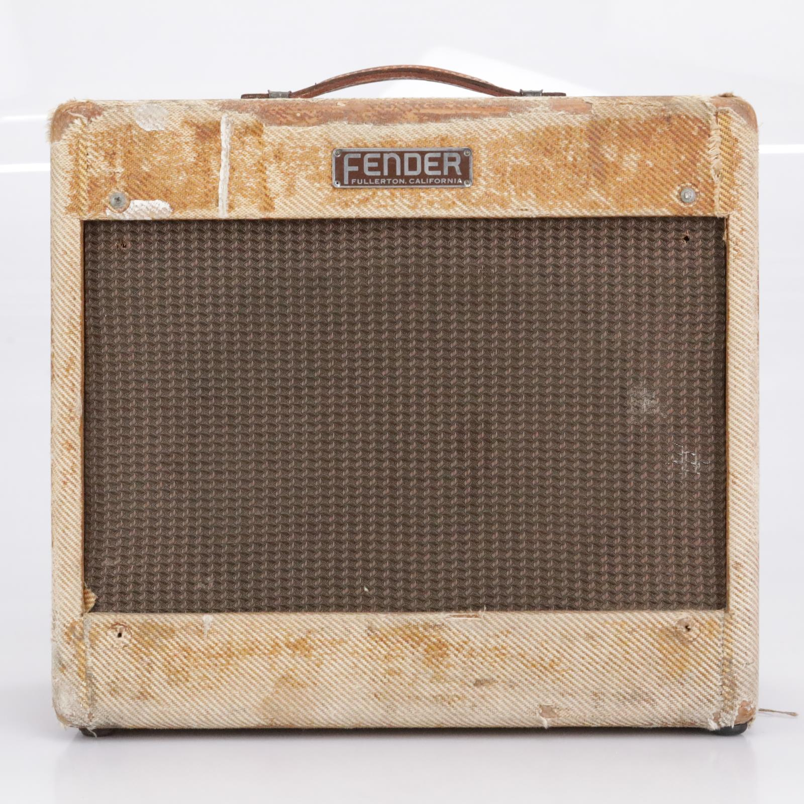 "1954 Fender ""Deluxe"" 5D3 Tube Combo Guitar Amplifier #40370"