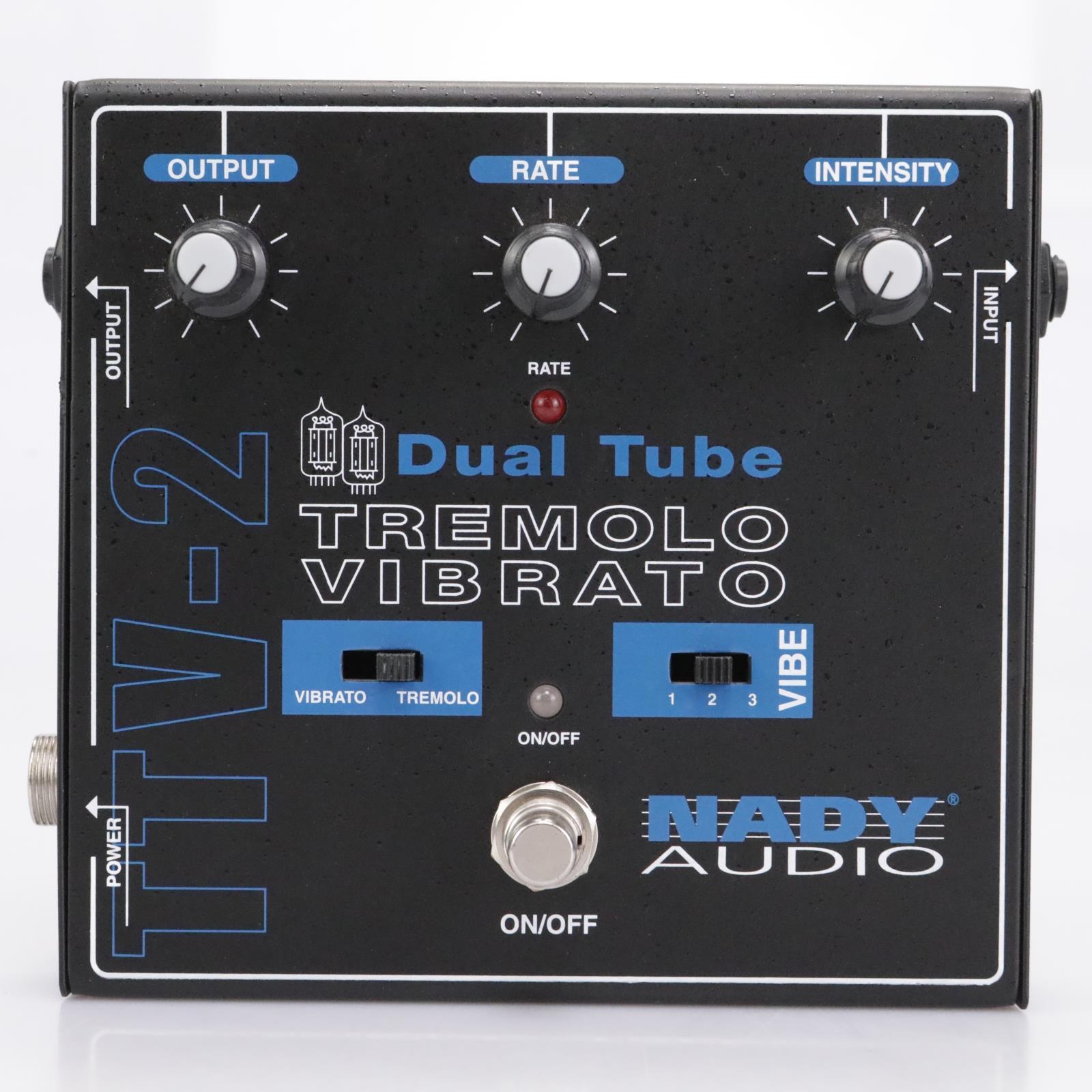 Nady Audio TTV-2 Dual Tube Tremolo Vibrato Guitar Effects Pedal #43081