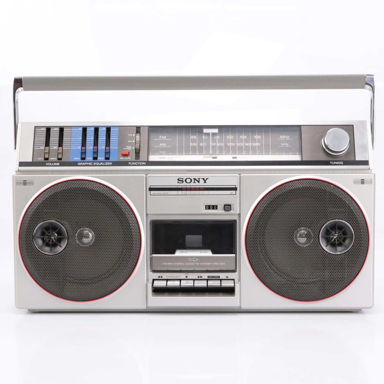Sony CFS-500 Boom Box AM/FM Radio / Stereo Cassette Player w/ Graphic EQ #43193
