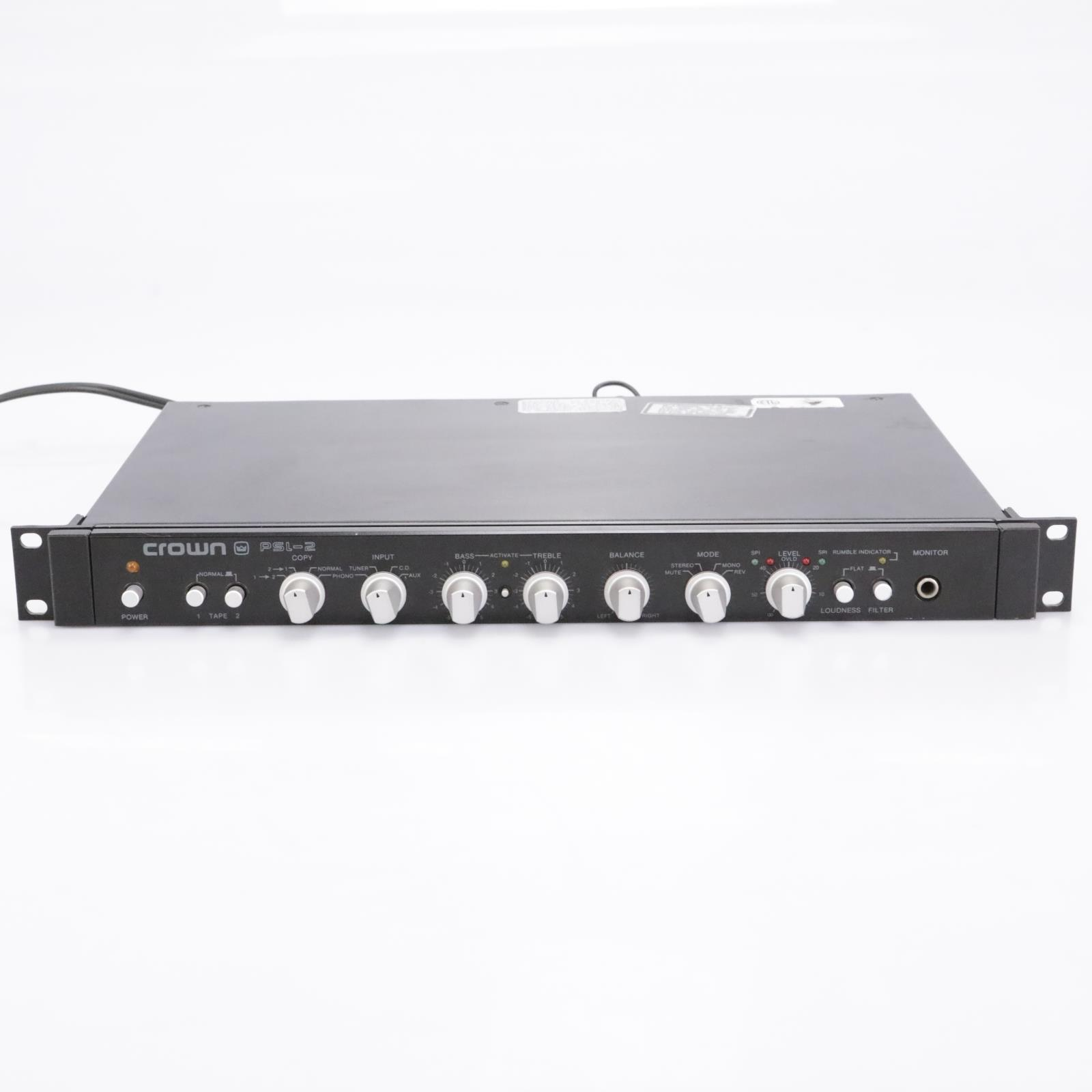 Crown PSL-2 Straight Line Stereo Preamplifier #43197