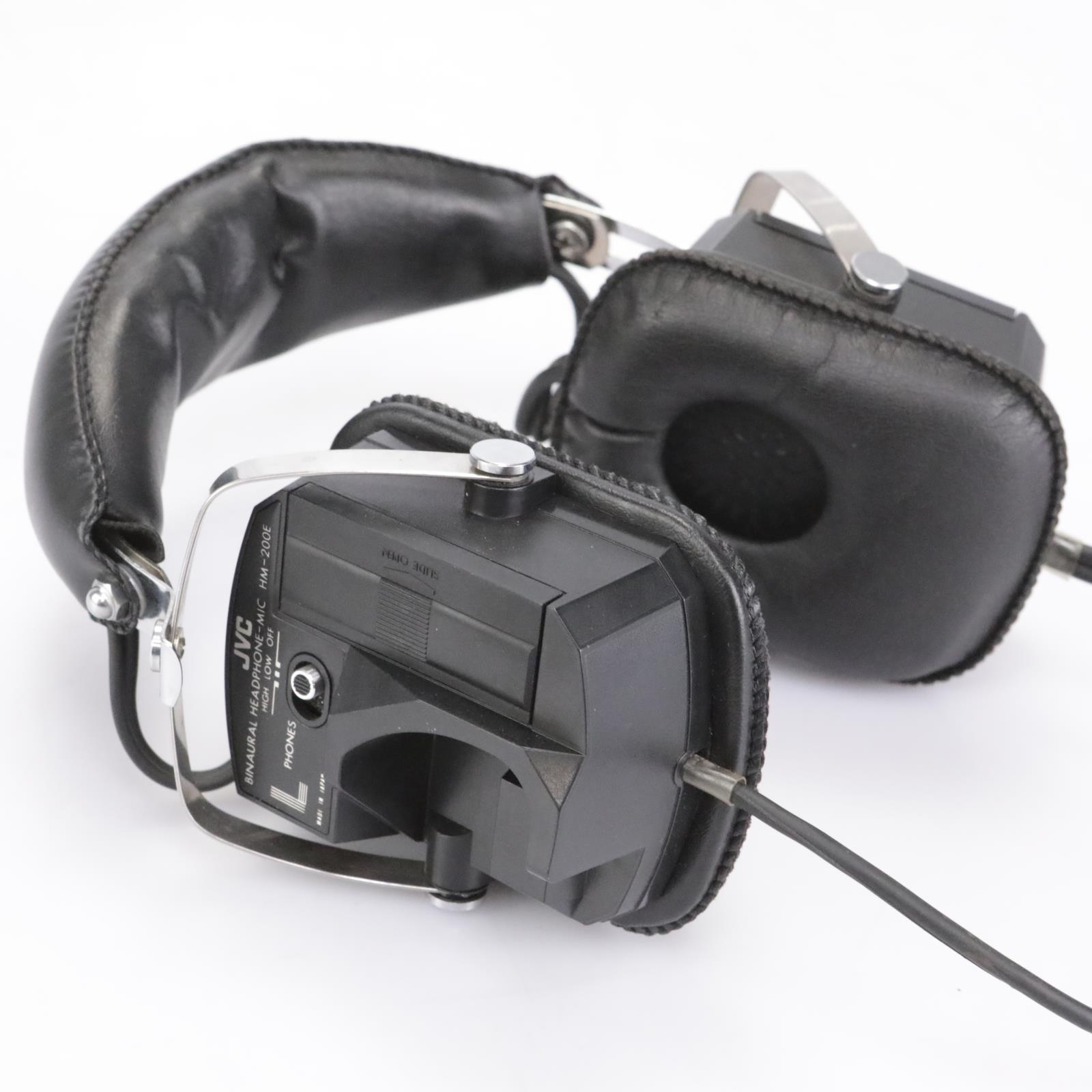 JVC HM-200E Binaural Headphones / Microphone Combination #43341
