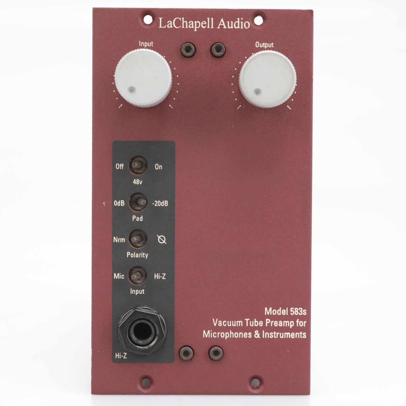 LaChapell 583s 500 Series Vacuum Tube Preamp Mic Pre DI #42526