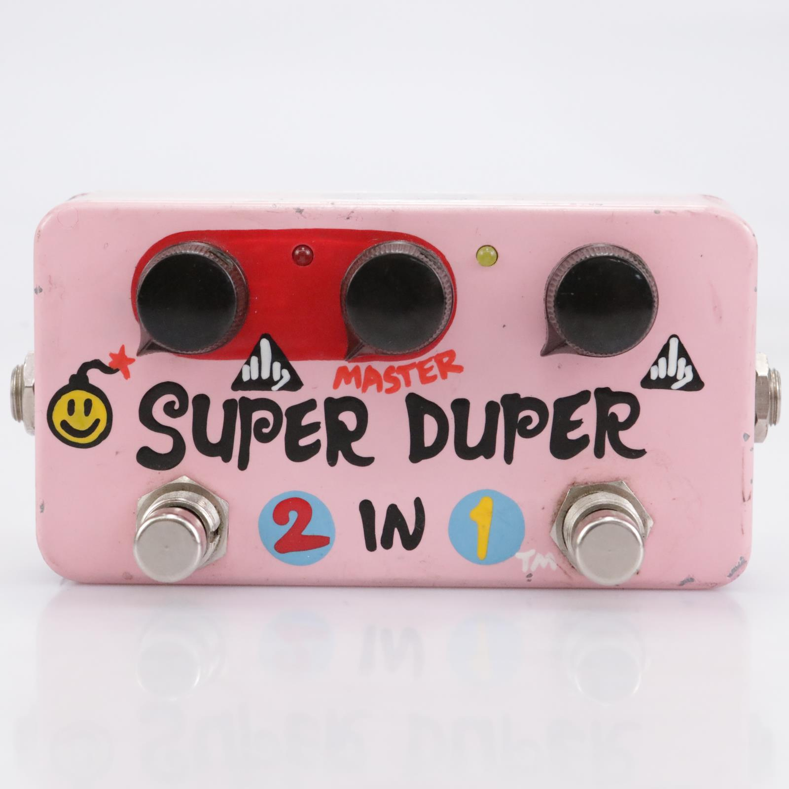 2001 Zvex Super Duper 2-in-1 Overdrive Distortion Pedal Hand-painted #41949