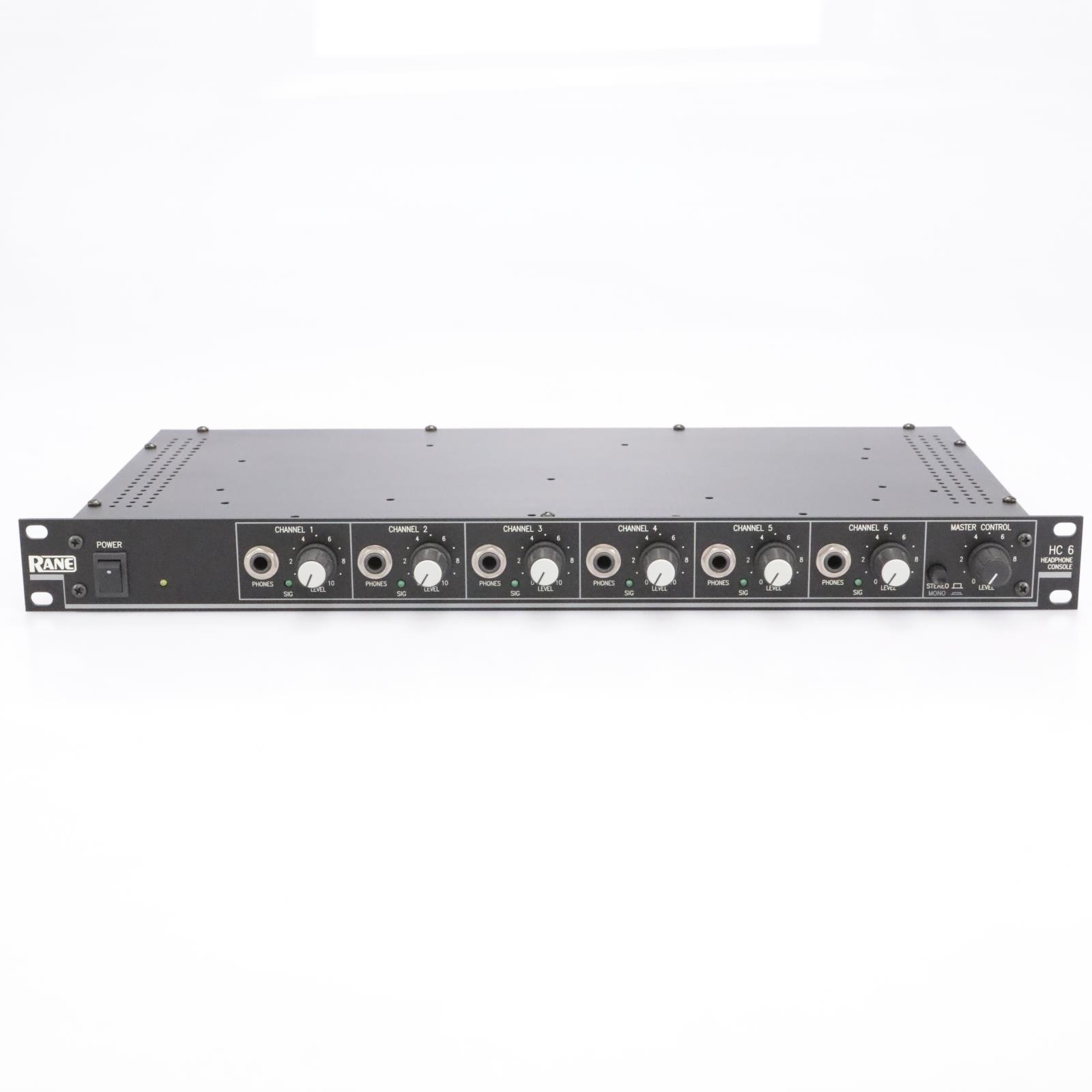 Rane HC-6 6-Channel Stereo Headphone Amplifier / Distributer #43448