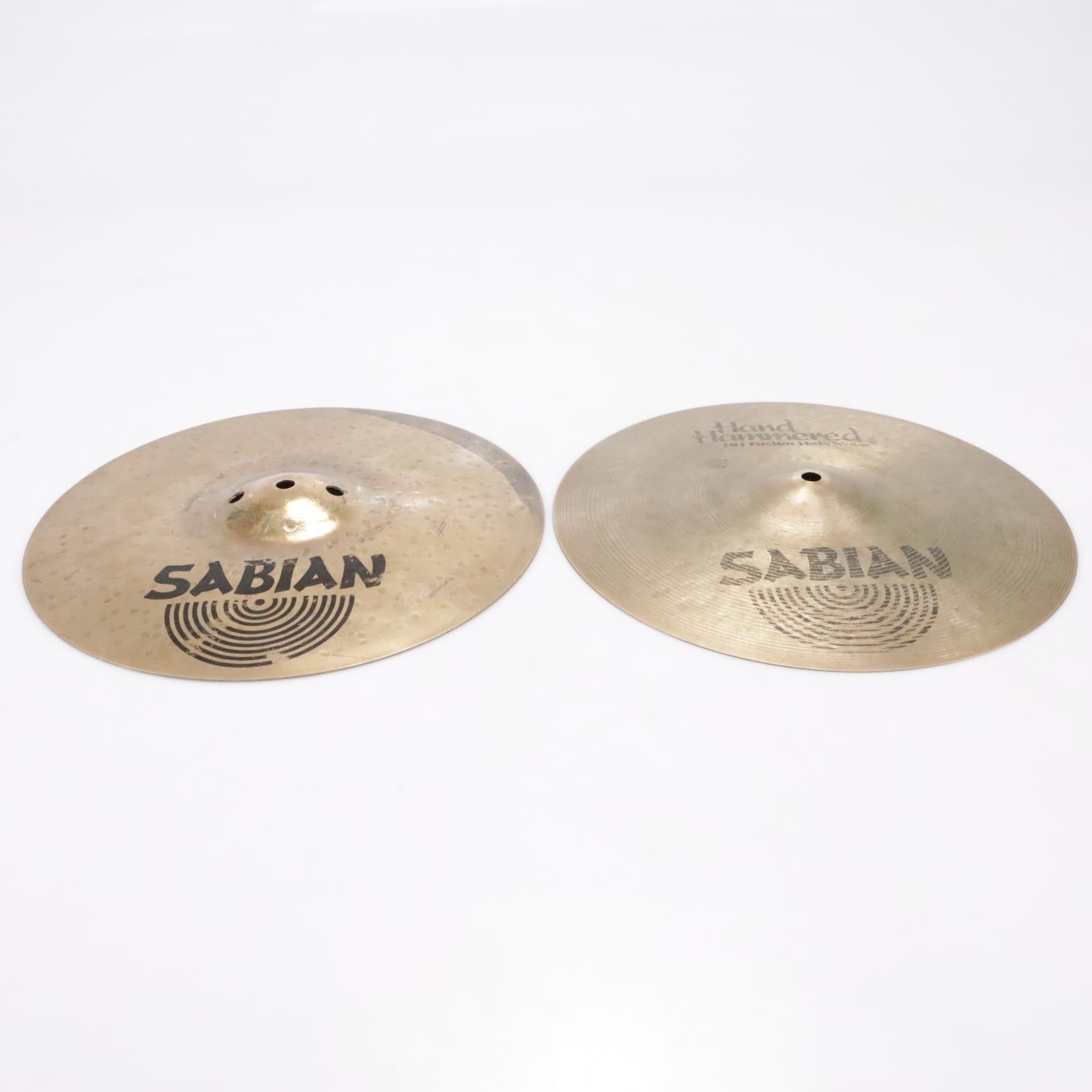 "Sabian Hand Hammered HH Fusion Hi-Hats 14""/36cm Cymbals #42795"