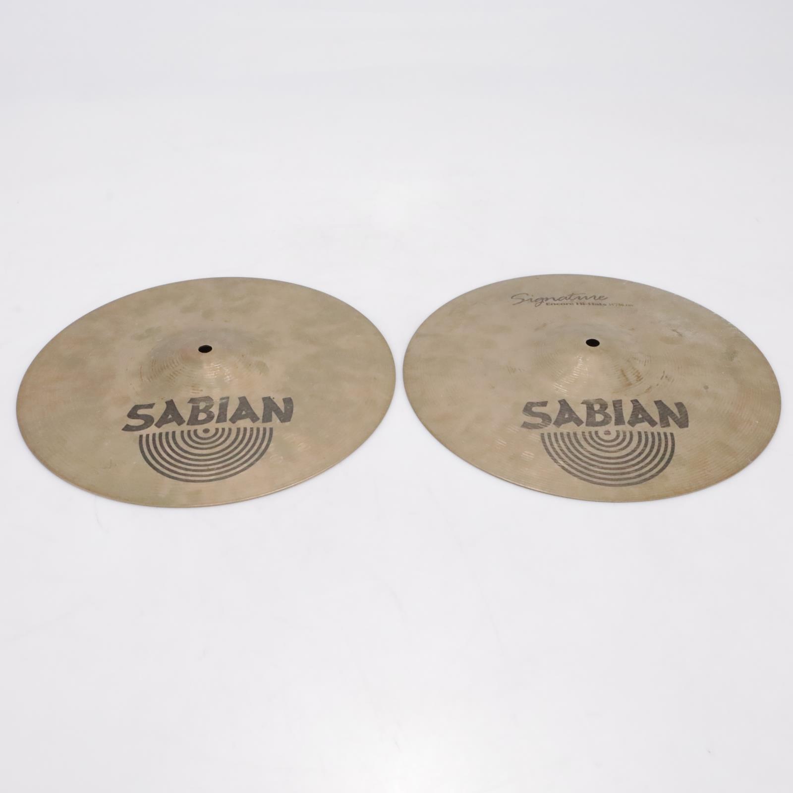 """Sabian Signature Jack Dejohnette Encore 14""""/36cm Hi-Hat Cymbals Video! #42804"""