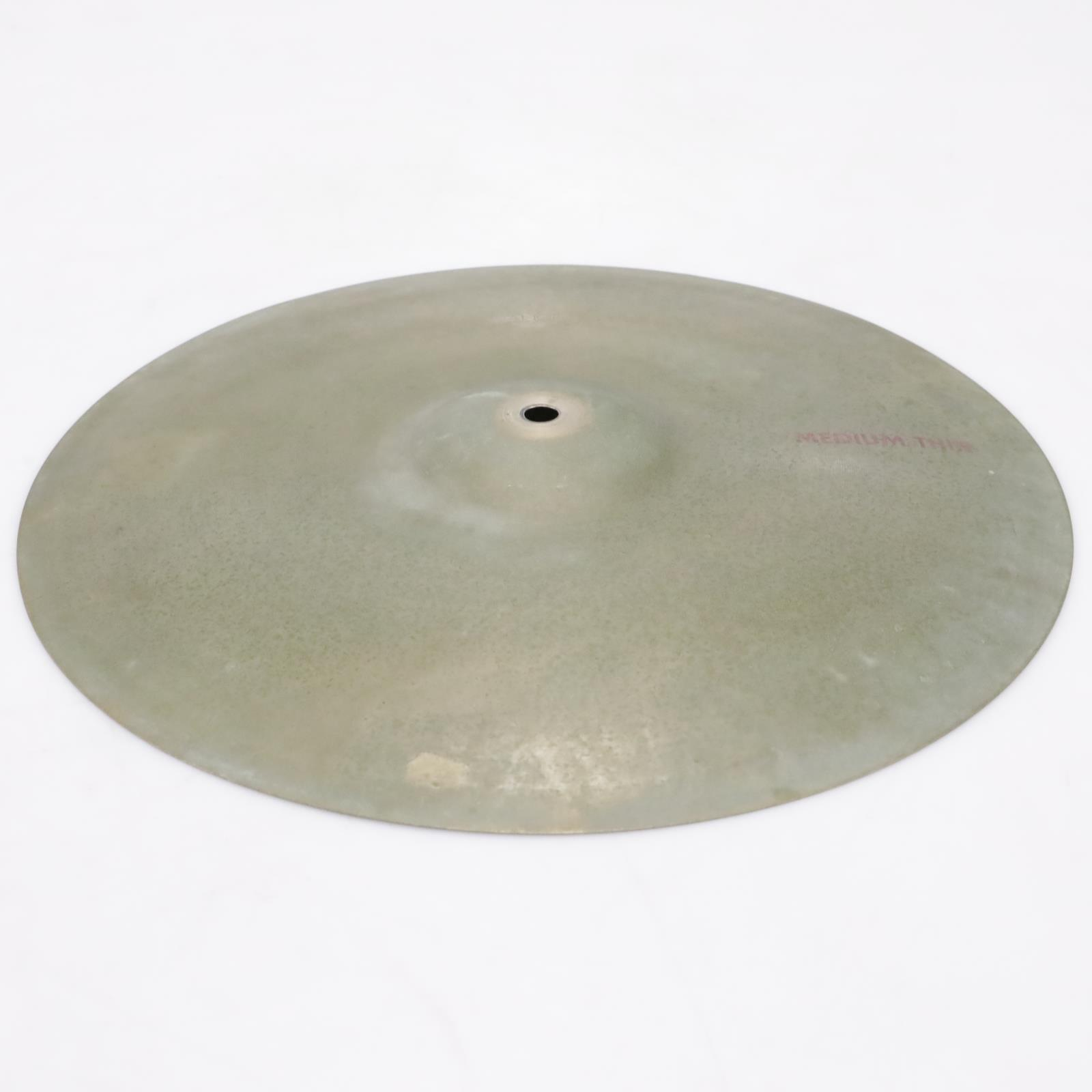 """Vintage Paiste Stanople Medium Thin 15"""" Crash Cymbal Made in Germany #43368"""