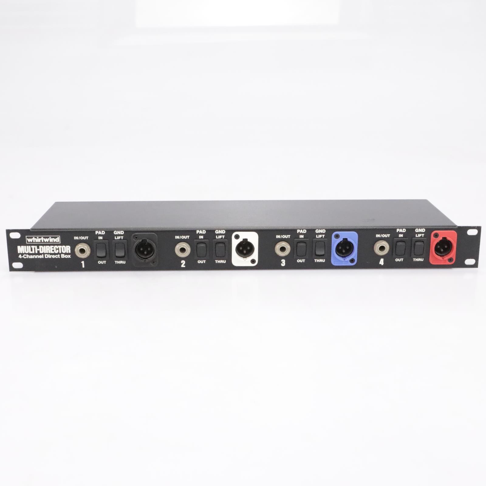 Whirlwind Multi-Director 4-Channel Direct Box DI Rack #43674