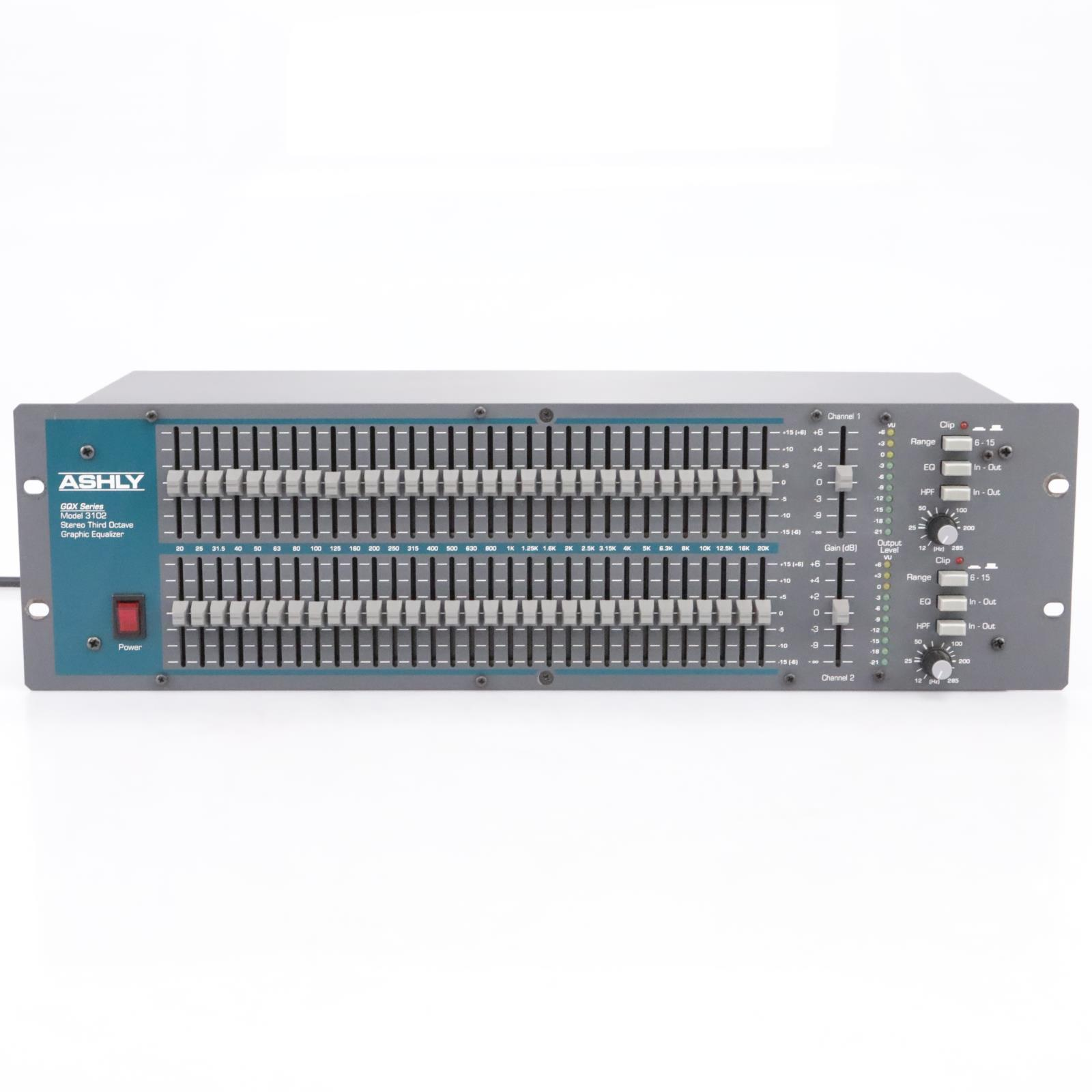 ASHLY Audio GQX-3102 Dual-Channel 31-Band Graphic Equalizer #43745