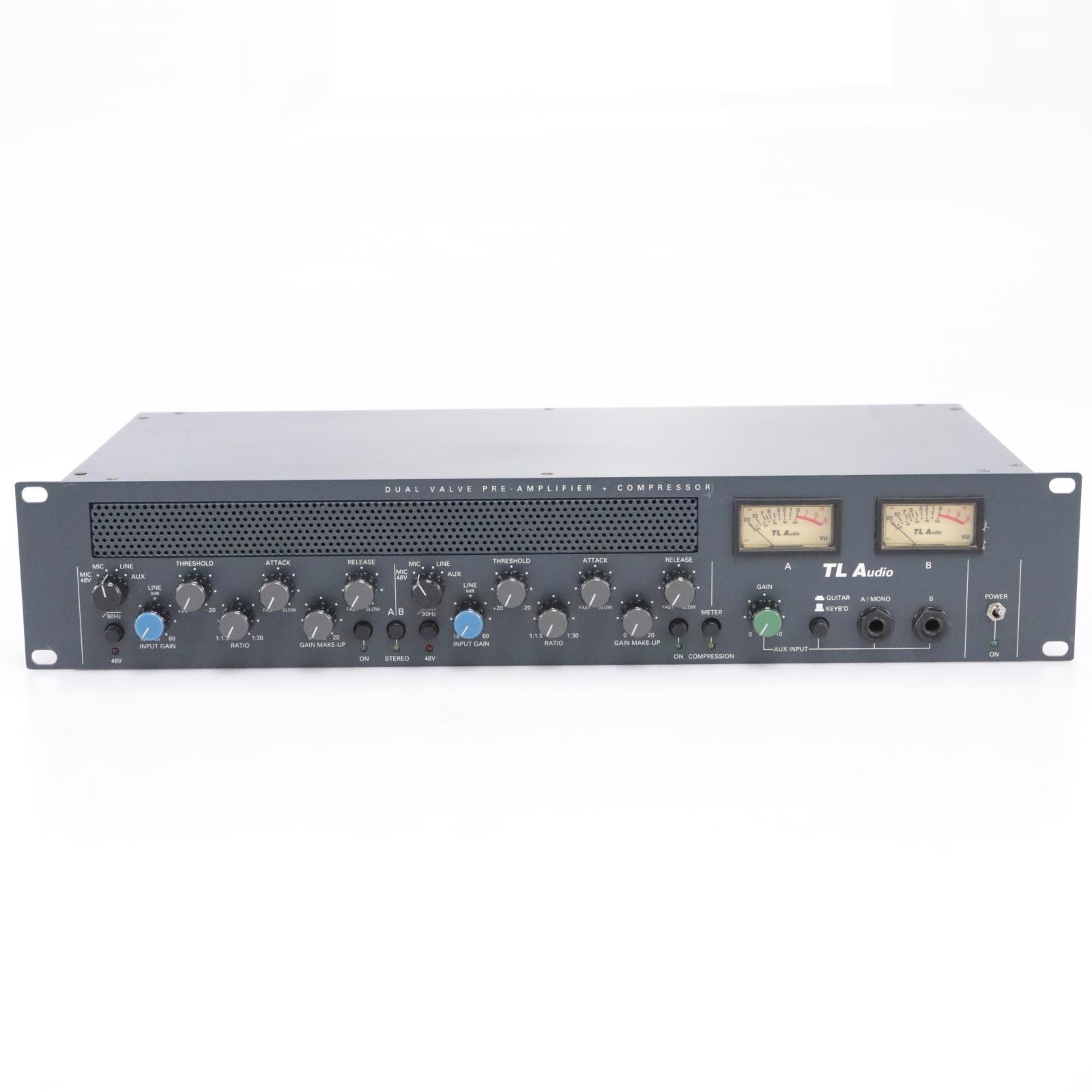 TL Audio C-1 Dual Valve Preamplifier Compressor Stereo Preamp #43747