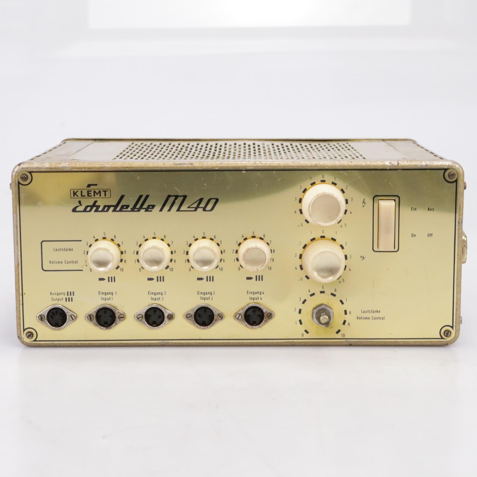 Vintage Klemt Echolette M40 Valve/Tube Power Amplifier #43865
