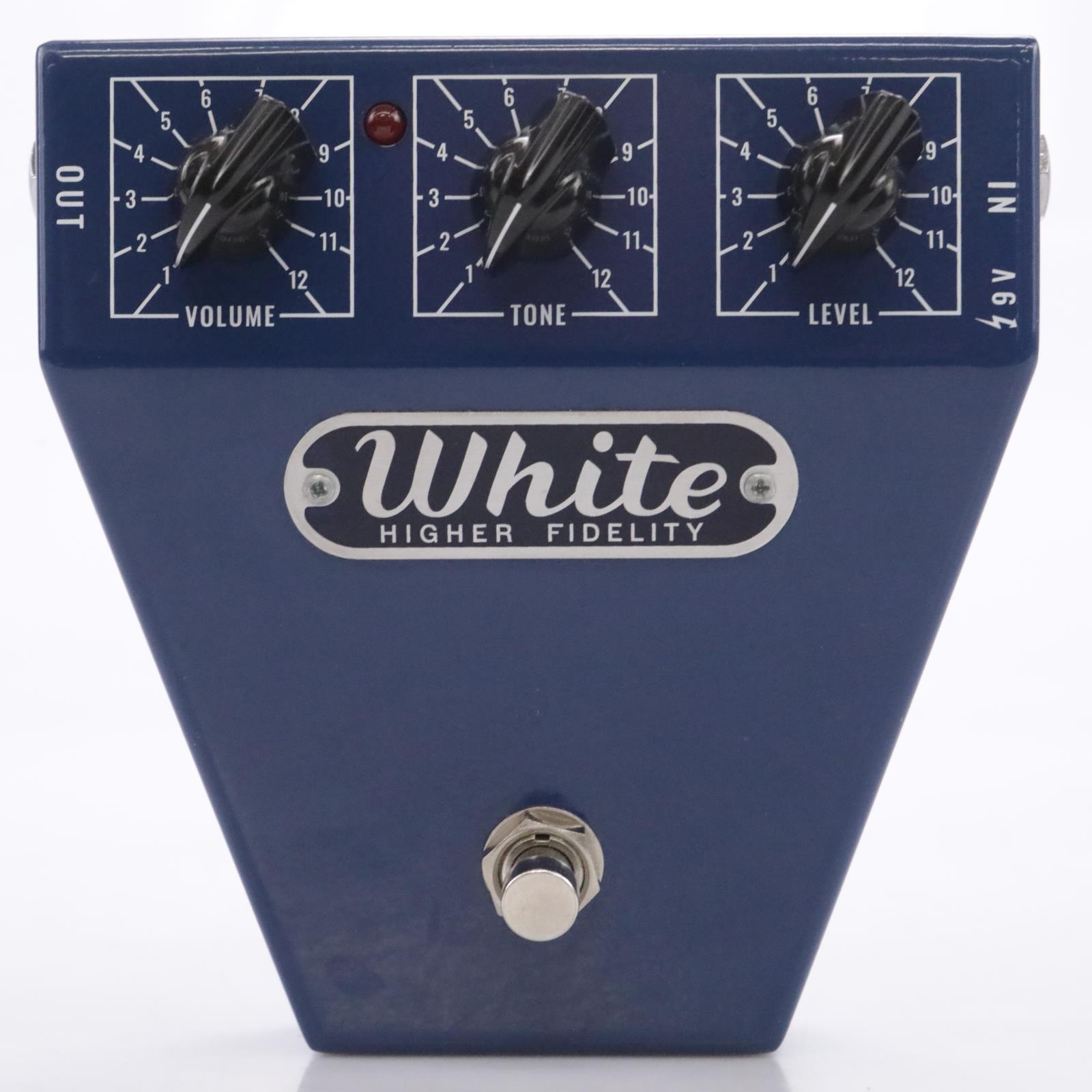 Satellite Amplifiers White Higher Fidelity Amp Emulator Pedal Stomp Box #43643