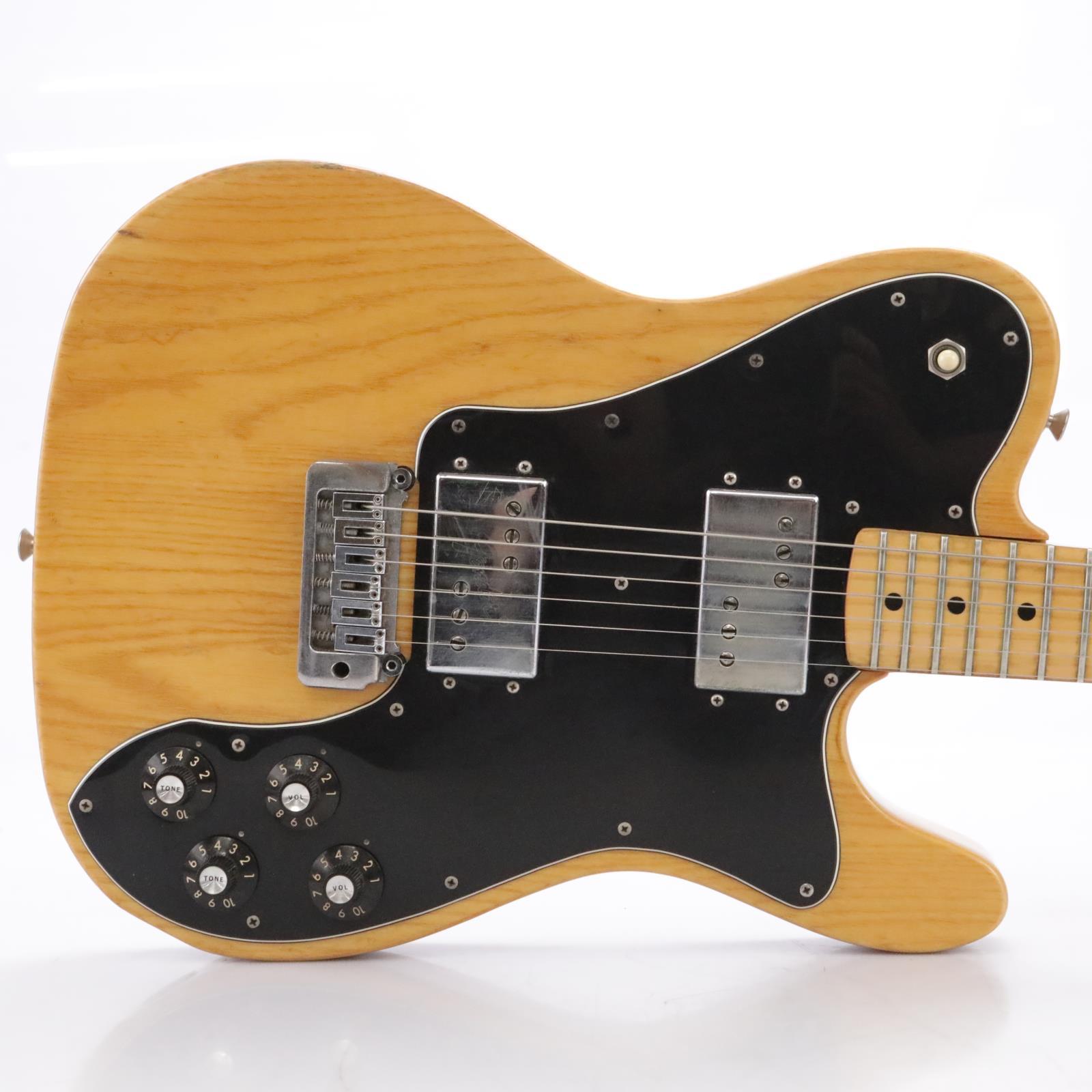 Vintage 1977 Fender Telecaster Deluxe Guitar Natural w/ Tremolo & Case #43805