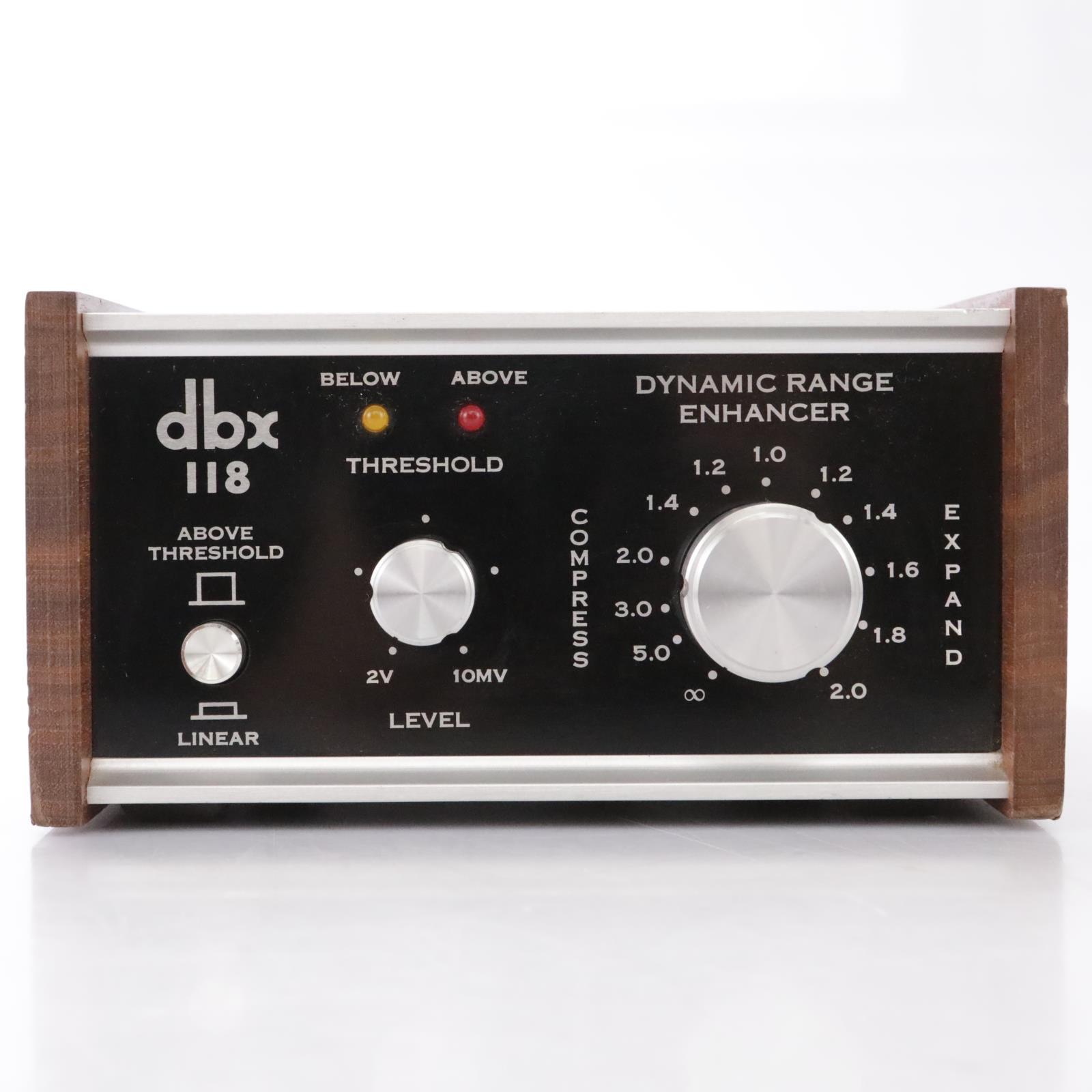 DBX 118 Dynamic Range Enhancer Expander Compressor #43868
