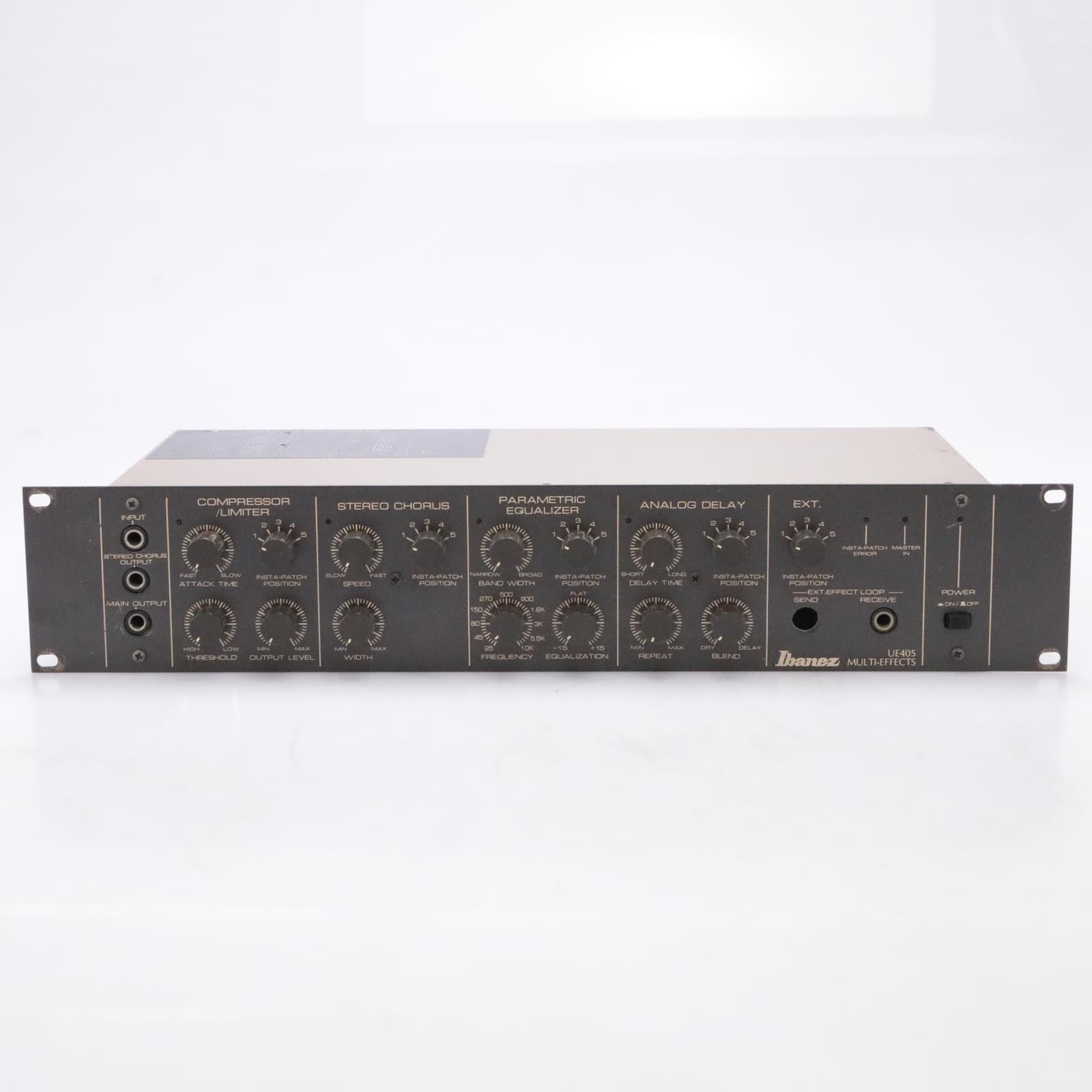 Ibanez UE405 Guitar Multi-Effects Processor Rack w/ Foot Pedalboard #44052