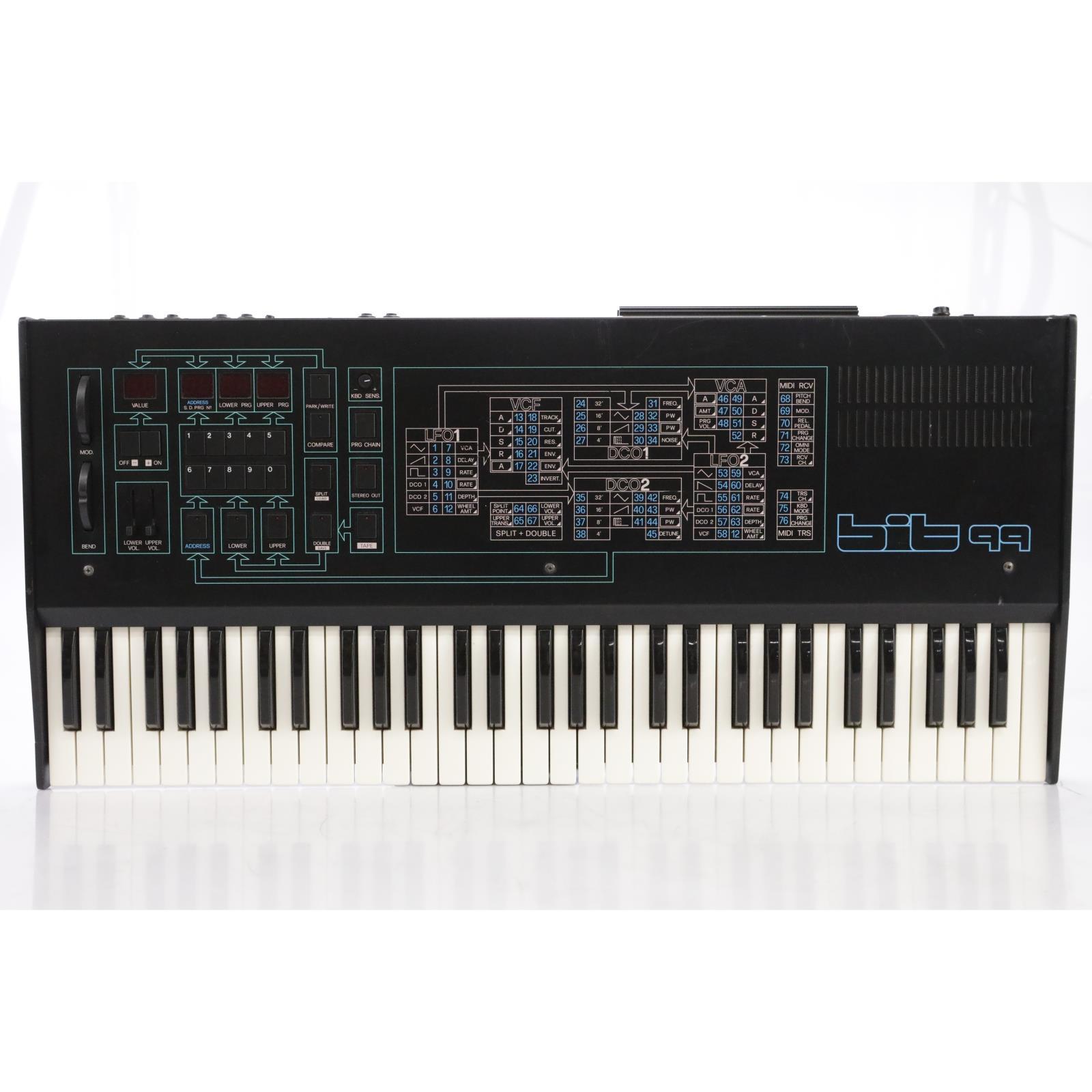 Crumar Bit99 61-Key Programmable Polyphonic Analog Synthesizer w/ Manual #44107