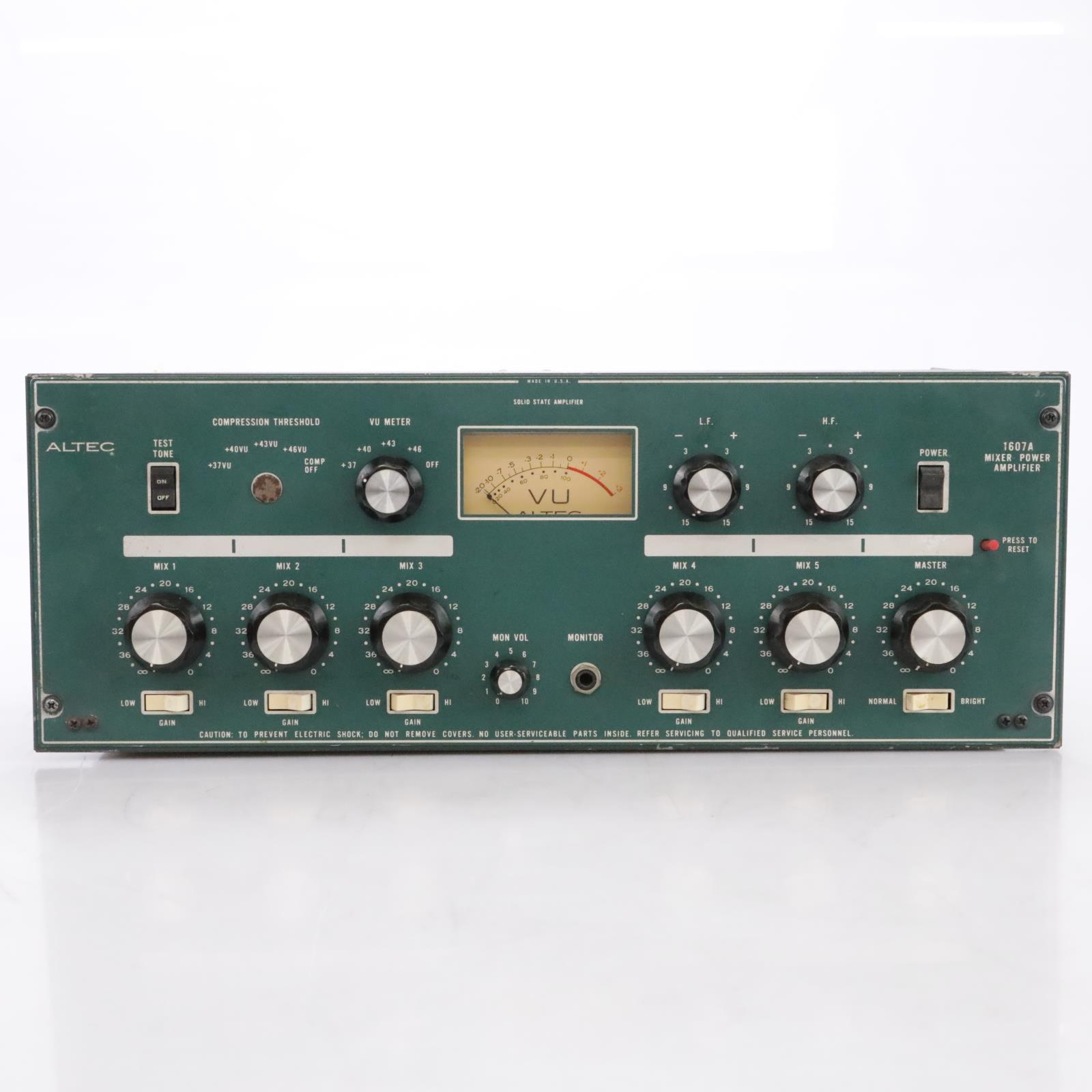 Altec Lansing 1607A Solid State Mixer Power Amplifier Amp #43860