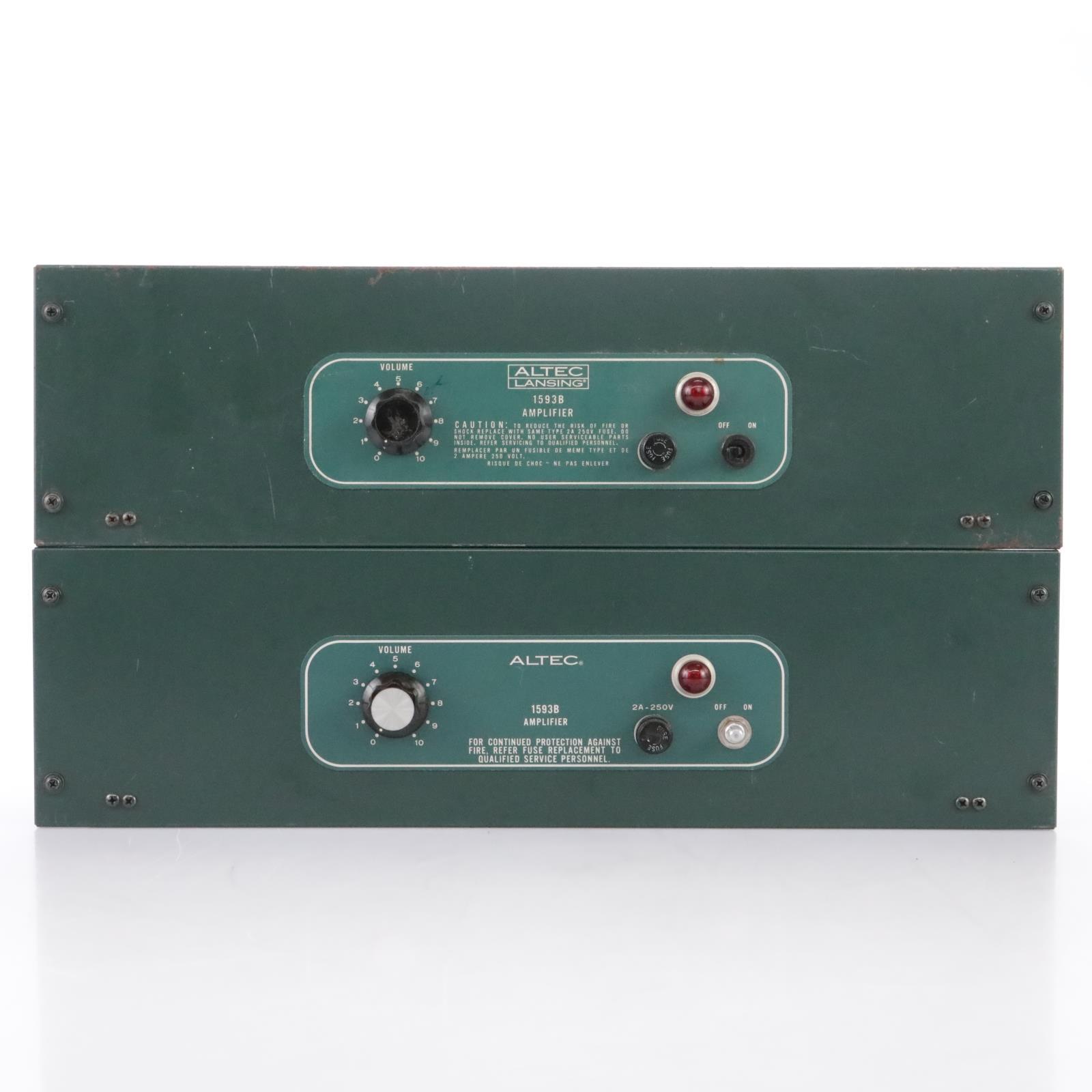 2 Altec Lansing 1593B 50W Mono Power Amplifier Amp #43859