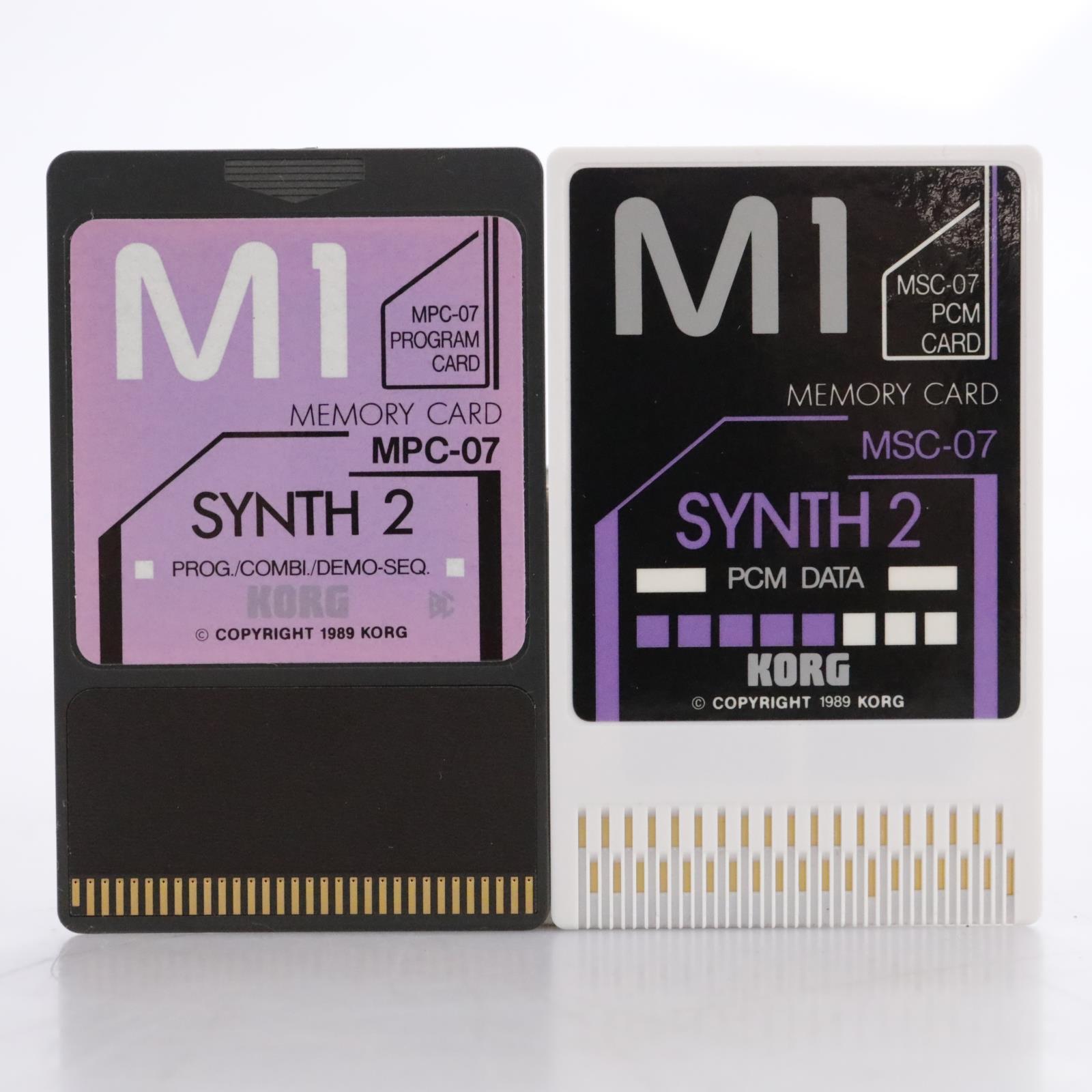 Korg MSC-7S / MSC-07 Synth 2 PCM Data Cards for Korg M1 #44174