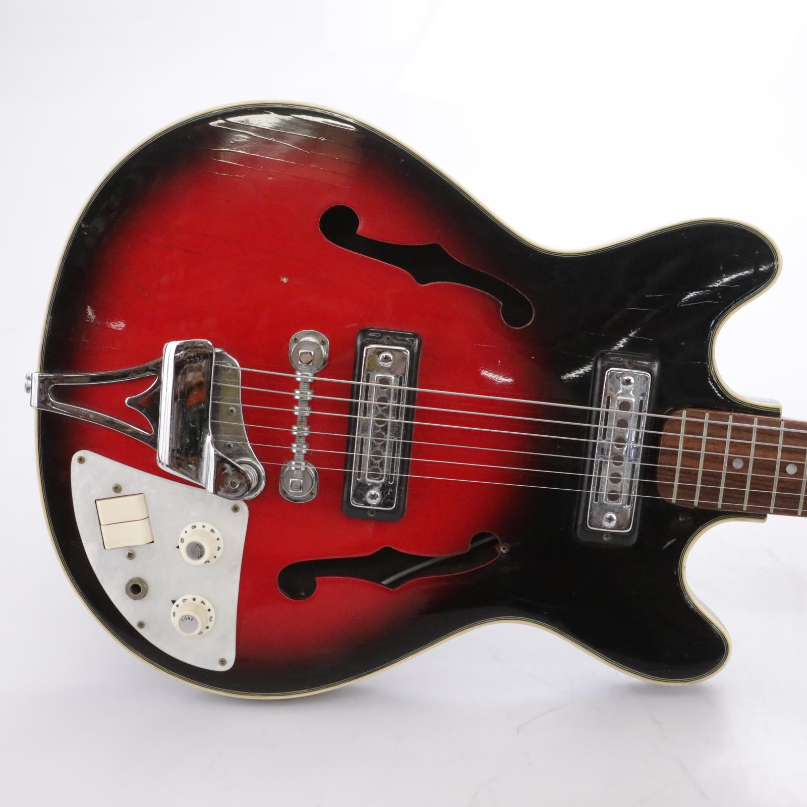 Teisco EP-9T Hollow-Body Electric Guitar w/ Soft Case #43978