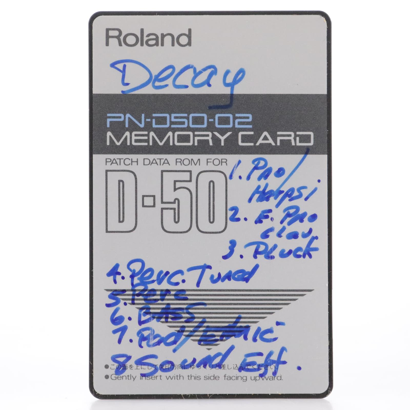Roland PN-D50-02 Patch Data ROM Memory Card for Roland D-50 #44201