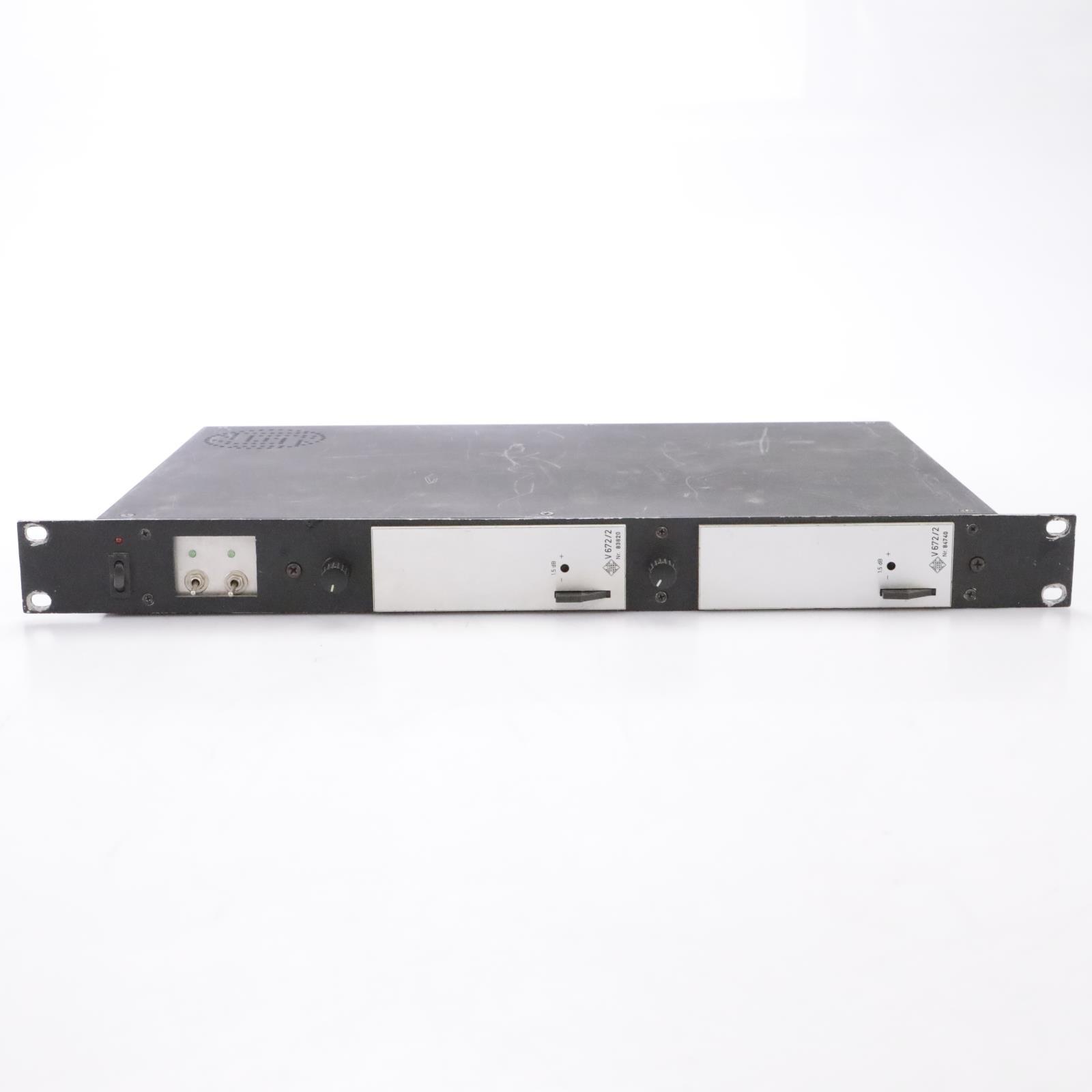 2 Vintage Telefunken V672/2 Microphone Preamps in Powered Rack #43696